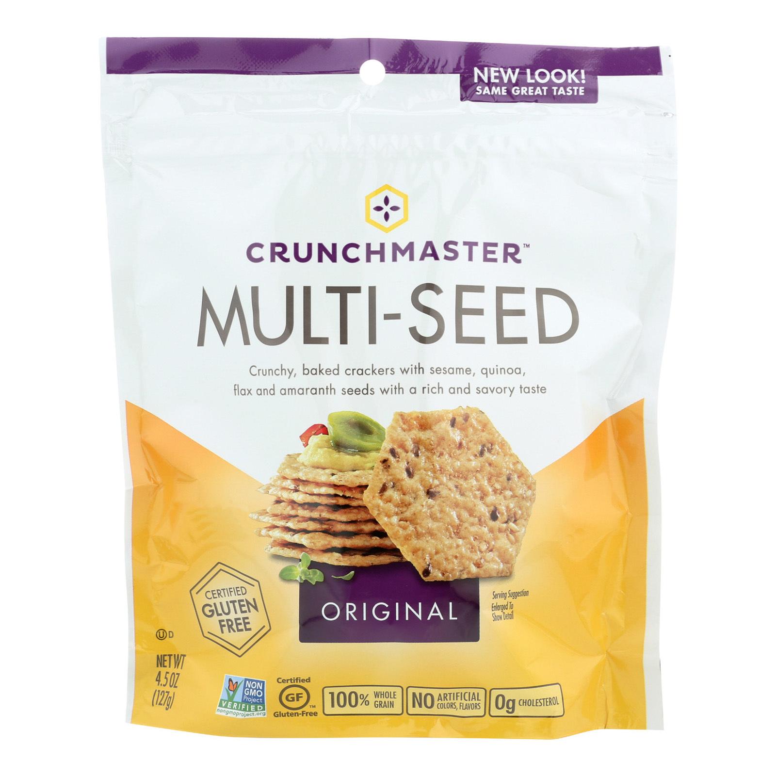 Crunchmaster Multi-Seed Crackers - Original - Case of 12 - 4.5 oz.