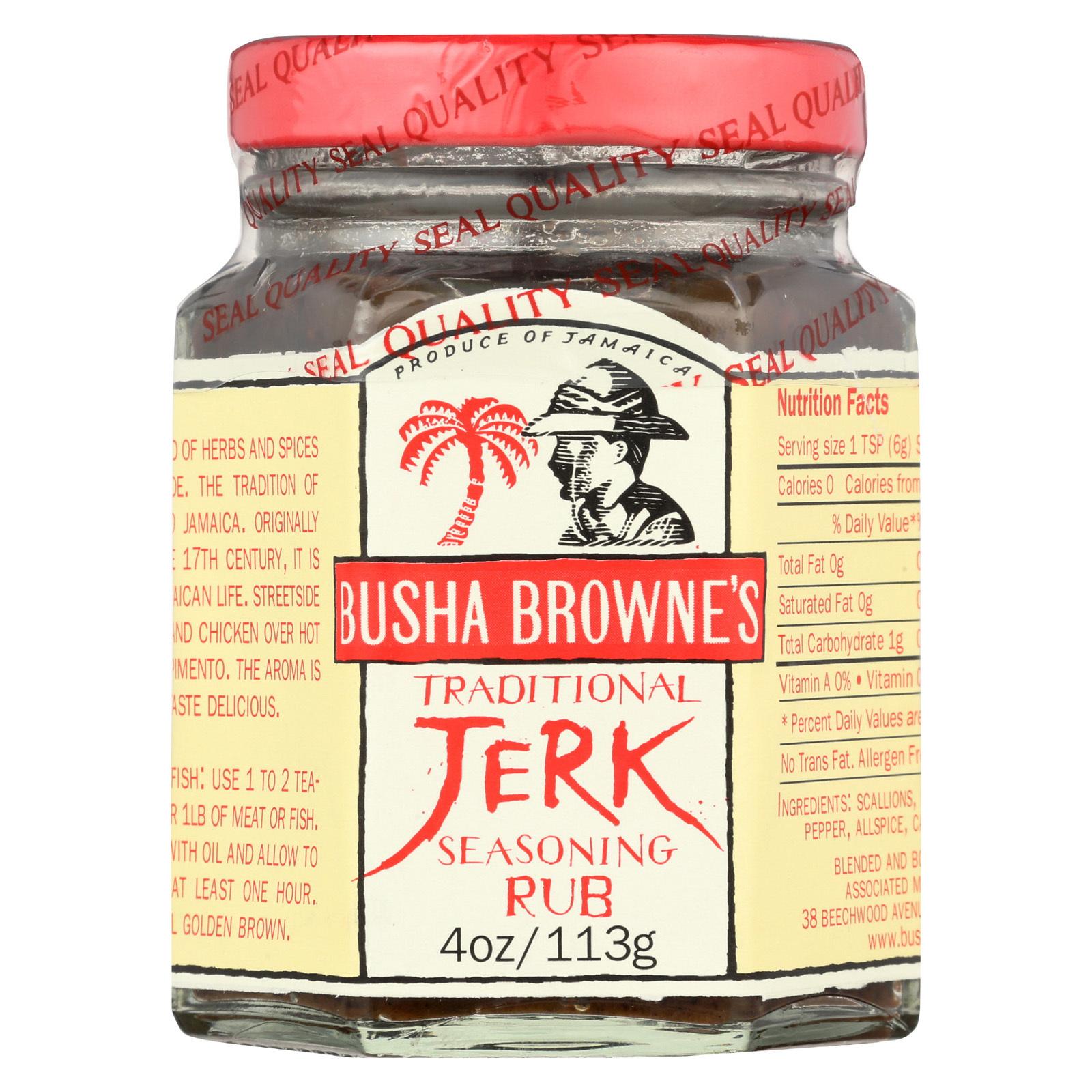 Busha Browne Jerk Seasoning -  Traditional - Case of 12 - 4 oz