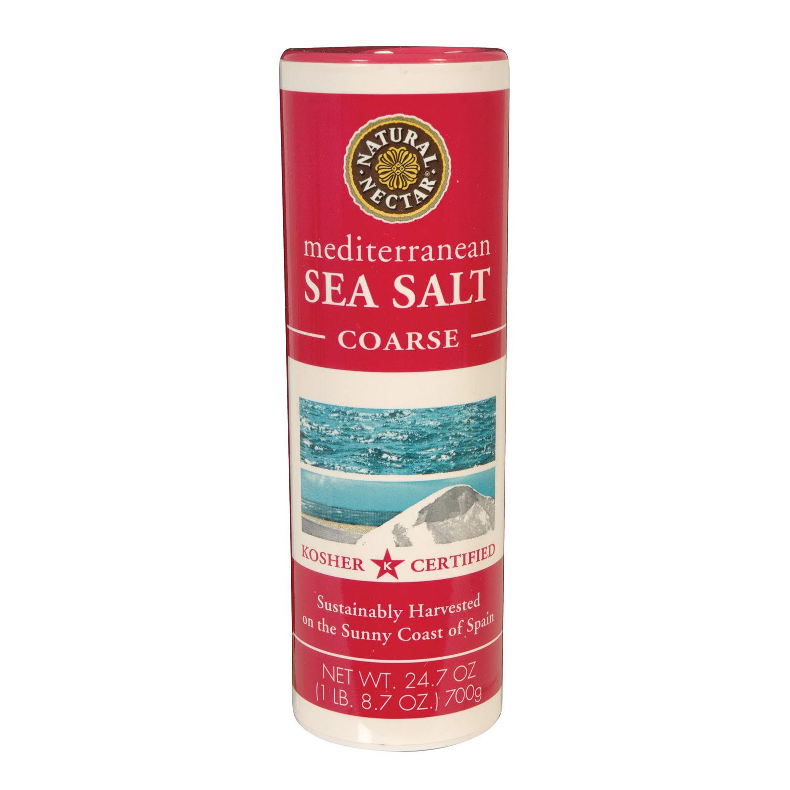 Natural Nectar Coarse Mediterranean - Sea Salt - Case of 12 - 24.7 oz.