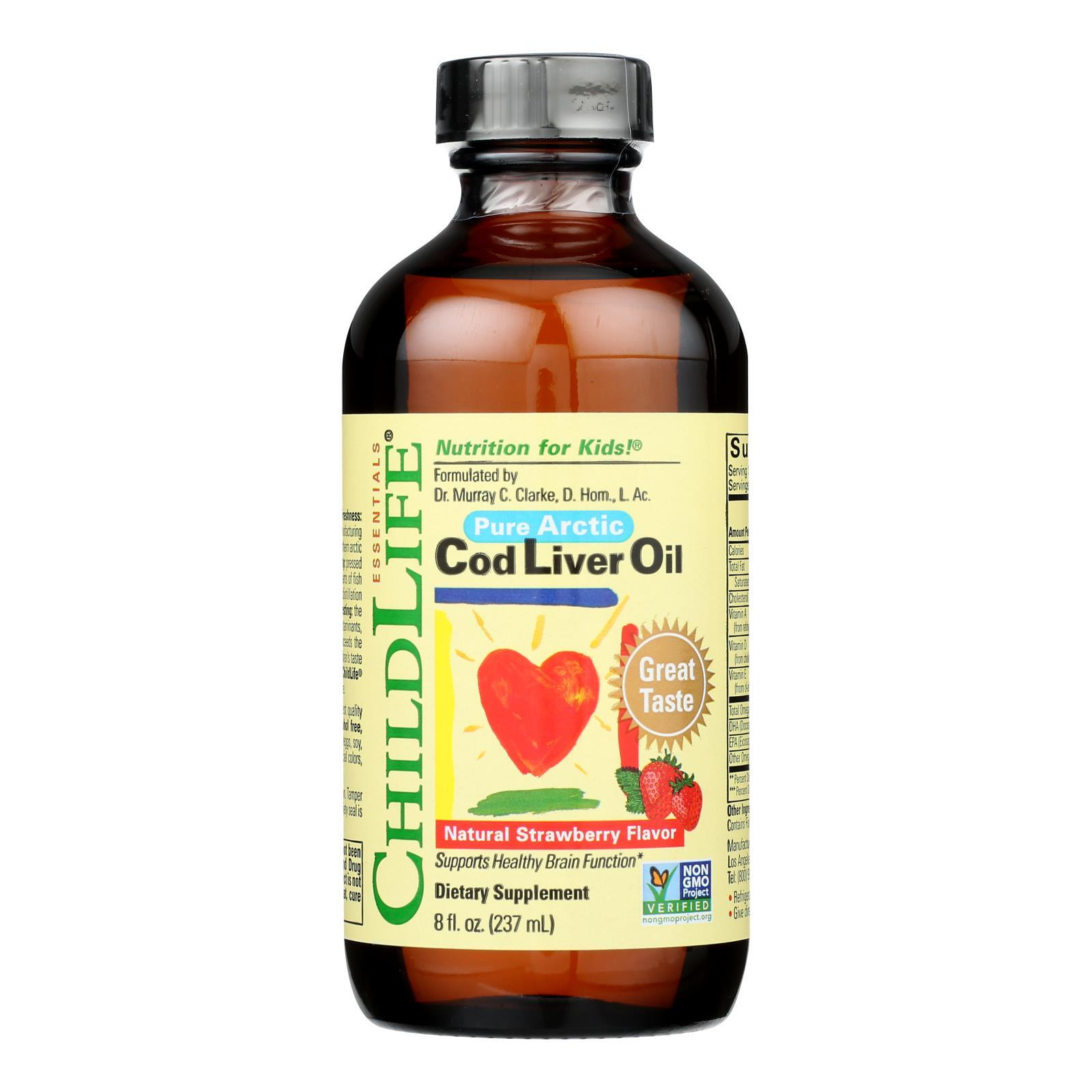 Childlife Cod Liver Oil Strawberry - 8 fl oz