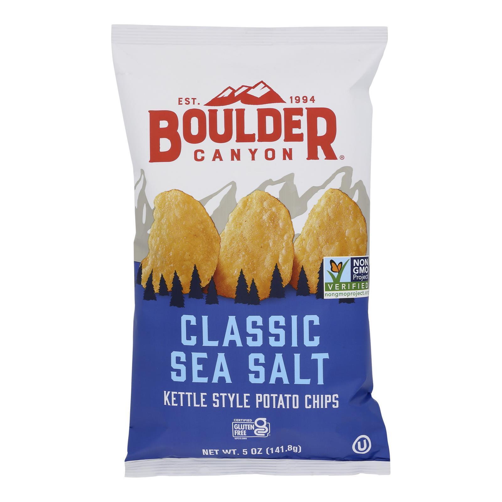 Boulder Canyon Natural Foods Totally Natural Potato Chips - Case of 12 - 5 oz.
