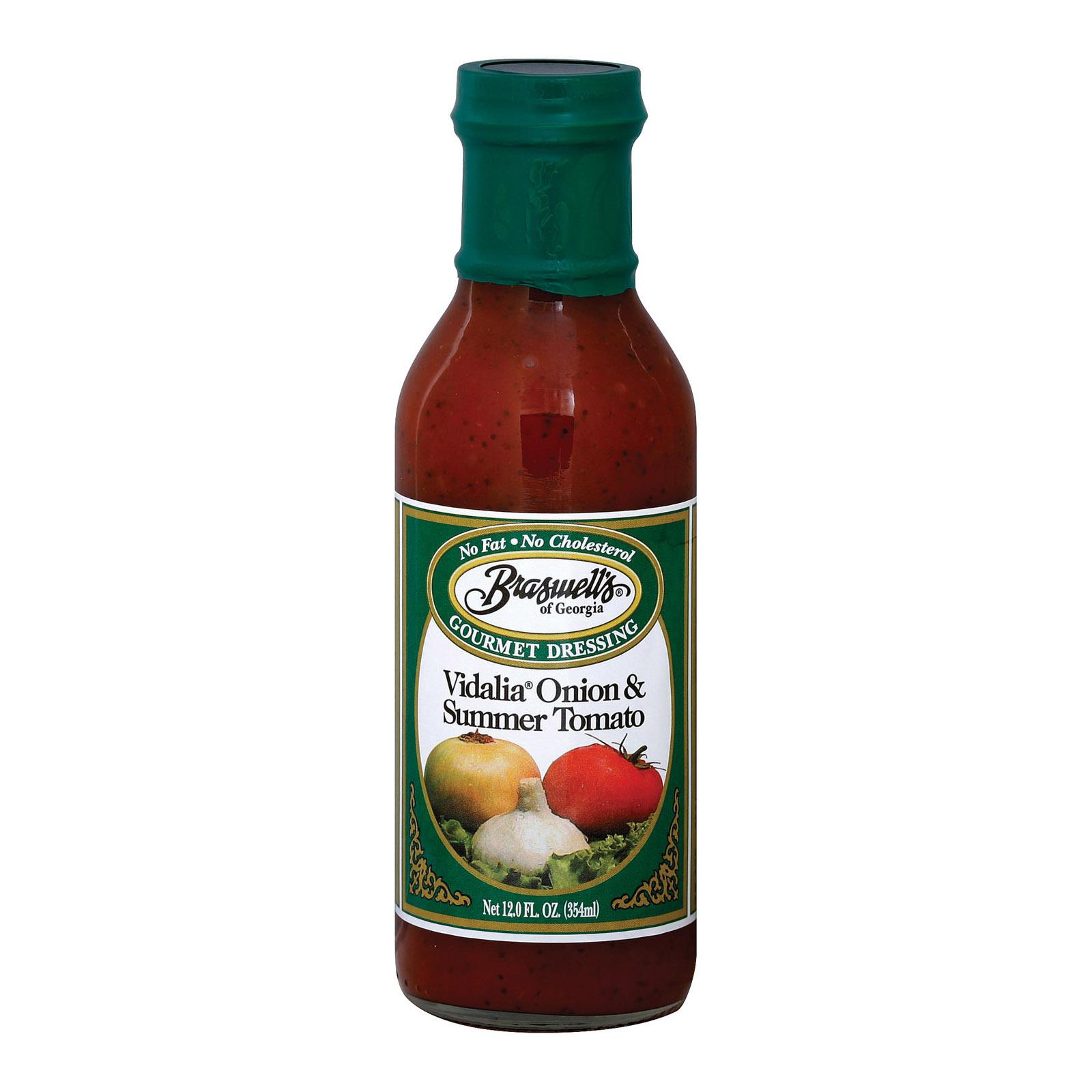 Braswell's Gourmet Dressing - Vidalia Onion and Summer Tomato - Case of 6 - 12 Fl oz.