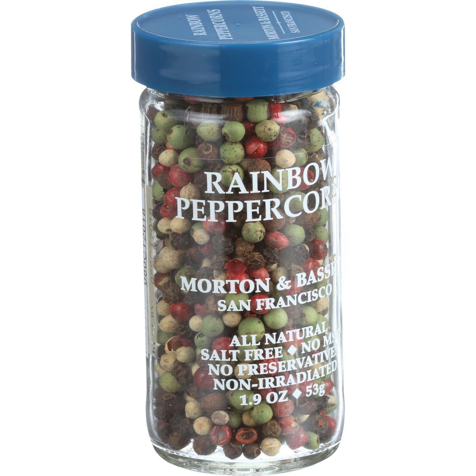 Morton and Bassett Peppercorns - Whole - Rainbow - 1.9 oz - Case of 3