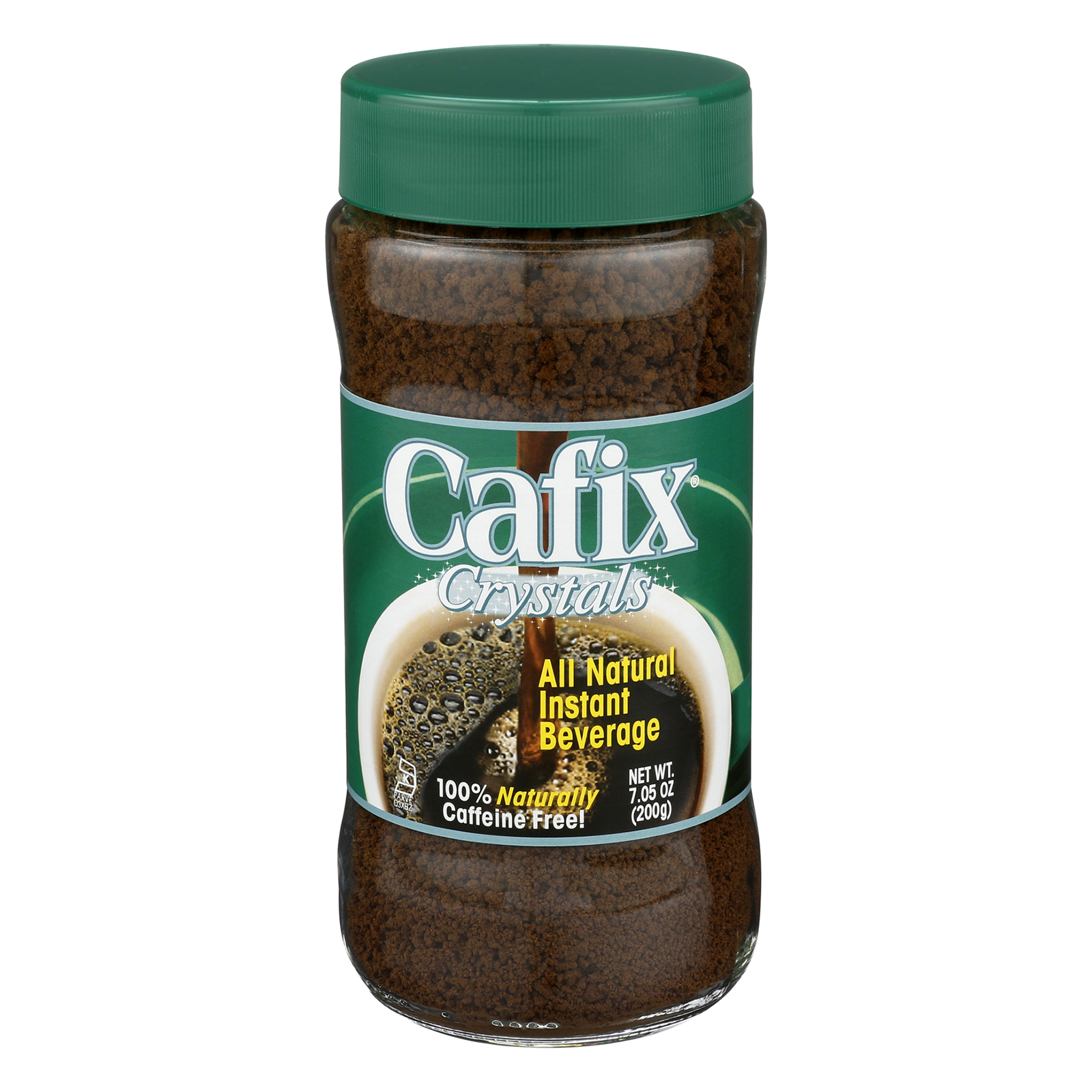 Cafix All Natural Instant Beverage Crystals - Caffeine Free - Case of 12 - 7 oz.