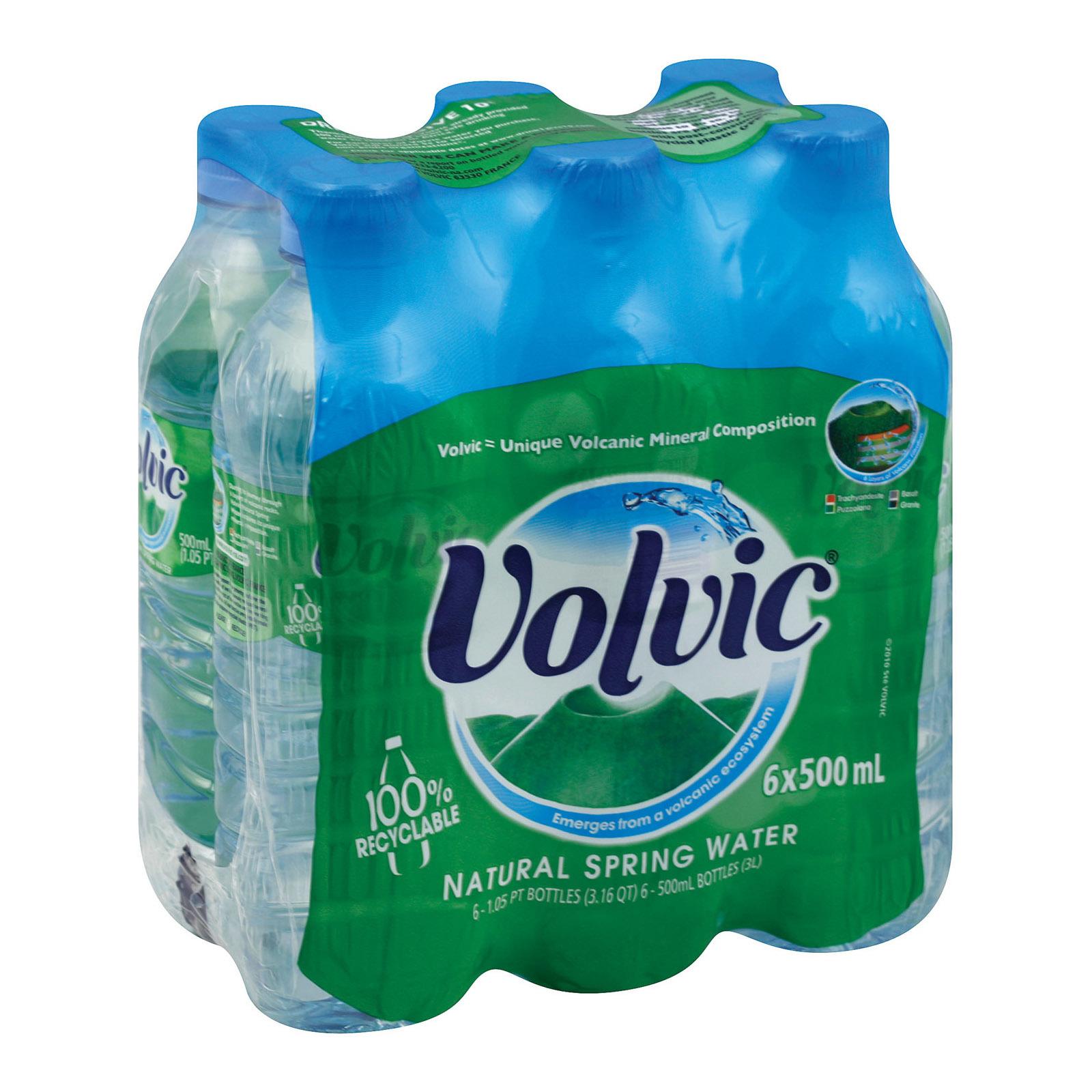 Volvic Springwater Plastic - Case of 4 - 0.5 Liter