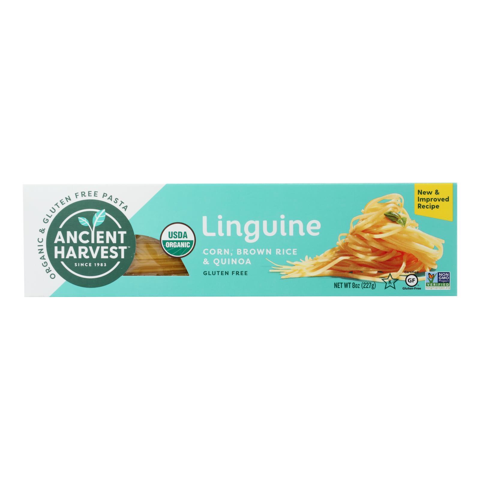 Ancient Harvest Organic Quinoa Supergrain Pasta - Linguine - Case of 12 - 8 oz