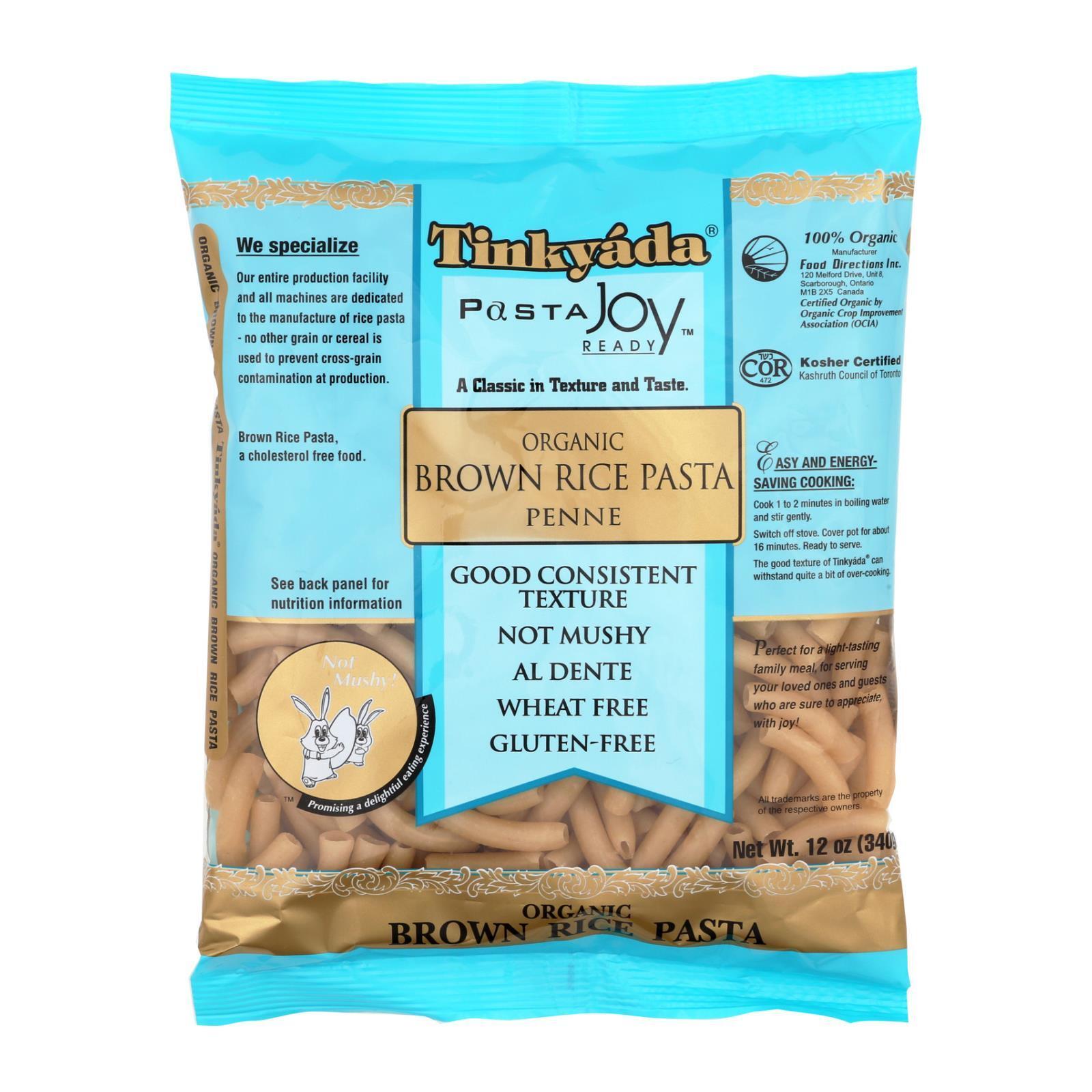 Tinkyada Organic Brown Rice Penne - Case of 12 - 12 oz.