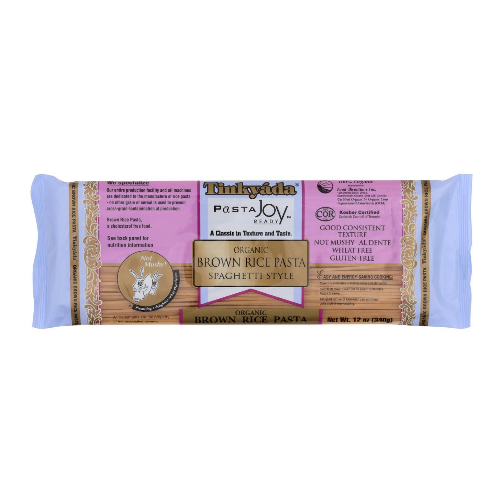 Tinkyada Organic Brown Rice Spaghetti - Case of 12 - 12 oz.