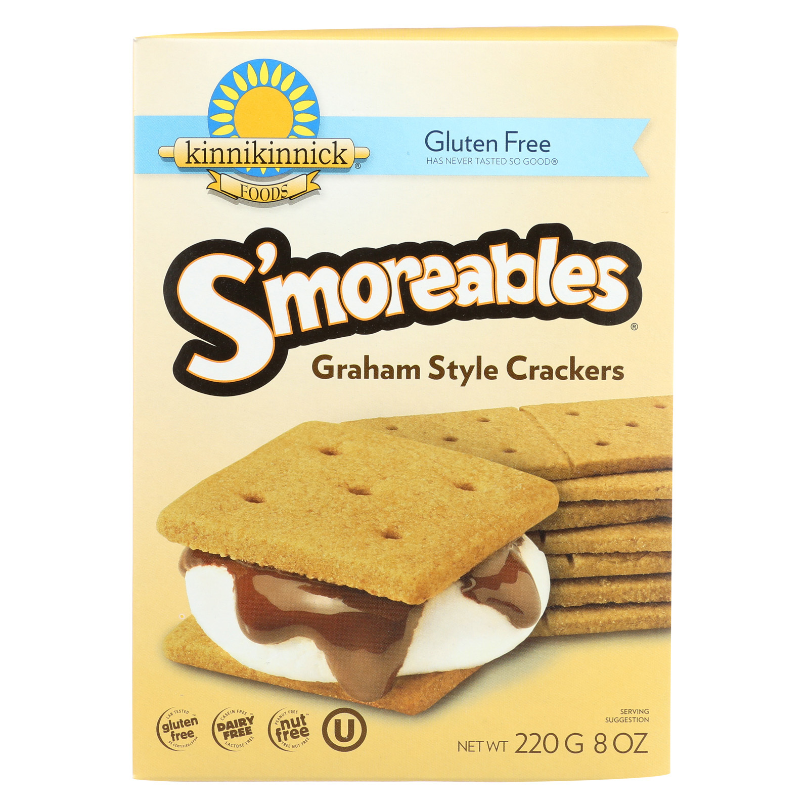 Kinnikinnick Graham Style Crackers - Case of 6 - 8 oz.
