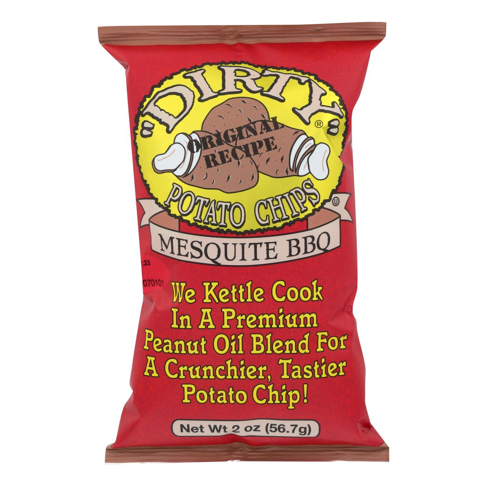 Dirty Chips Potato Chips - Mesquite BBQ - 2 oz - case of 25
