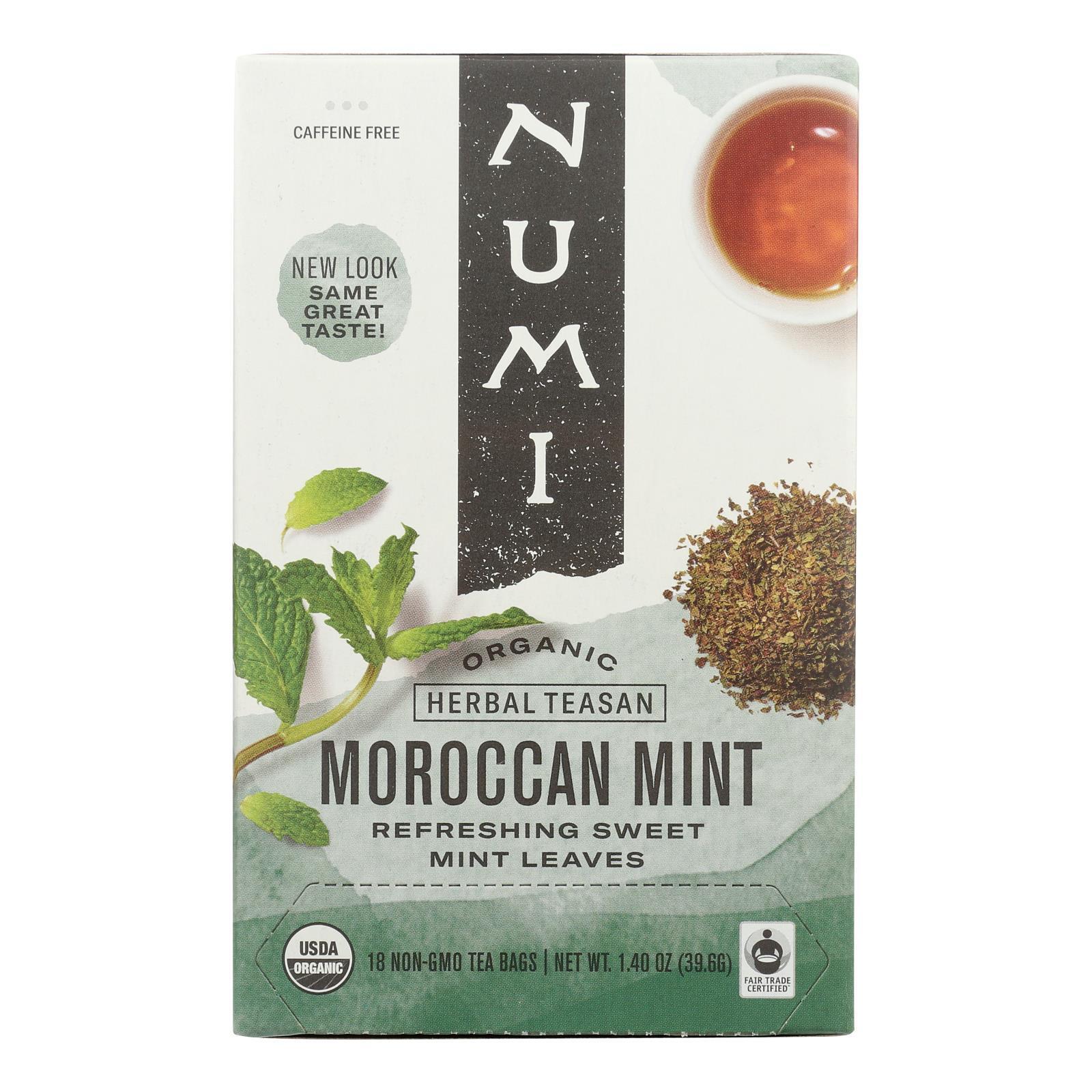 Numi Tea Moroccan Mint - Caffeine Free - 18 Bags