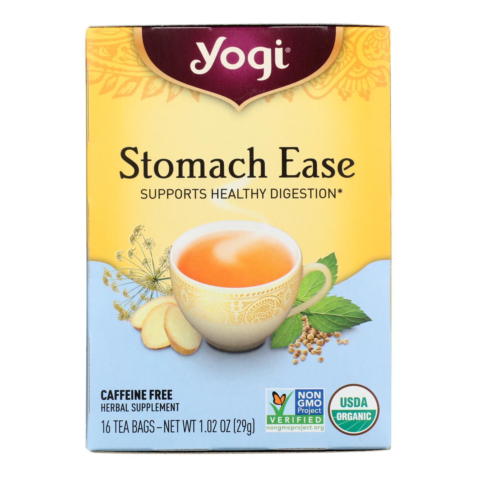 Yogi Tea Stomach Ease - Caffeine Free - 16 Tea Bags