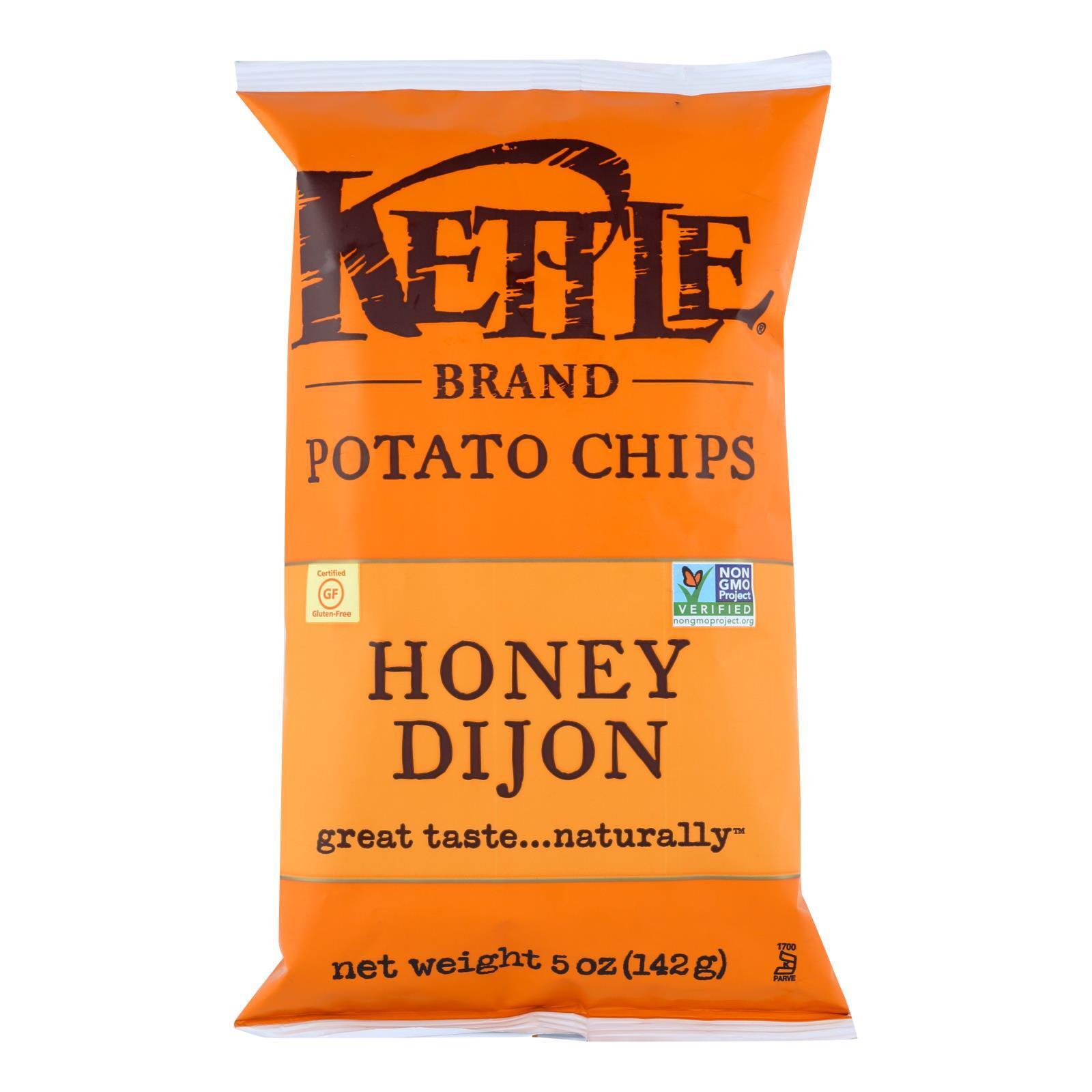 Kettle Brand Potato Chips - Honey Dijon - 5 oz - case of 15