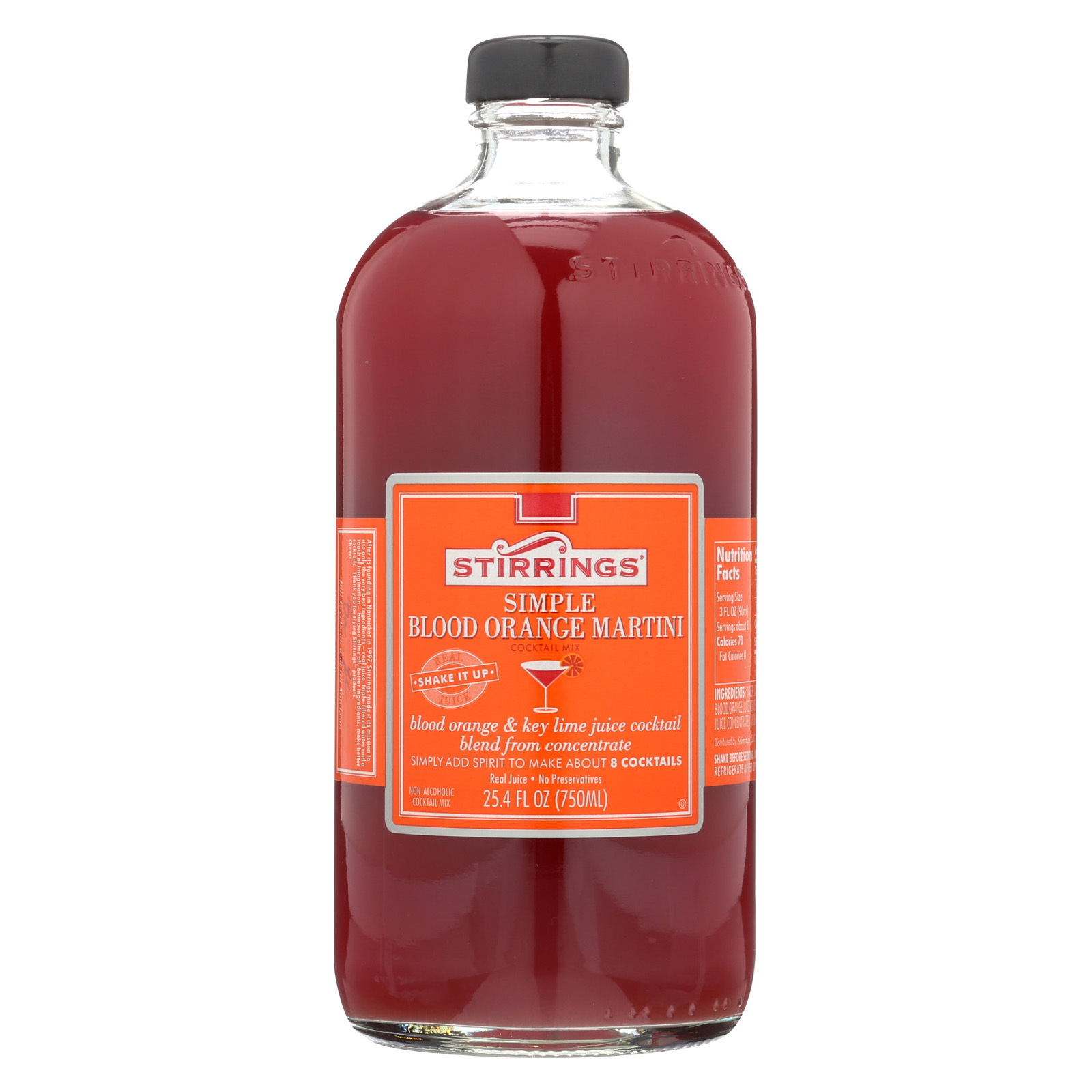 Stirrings Blood Orange Drink Mixer - Case of 6 - 750 ML