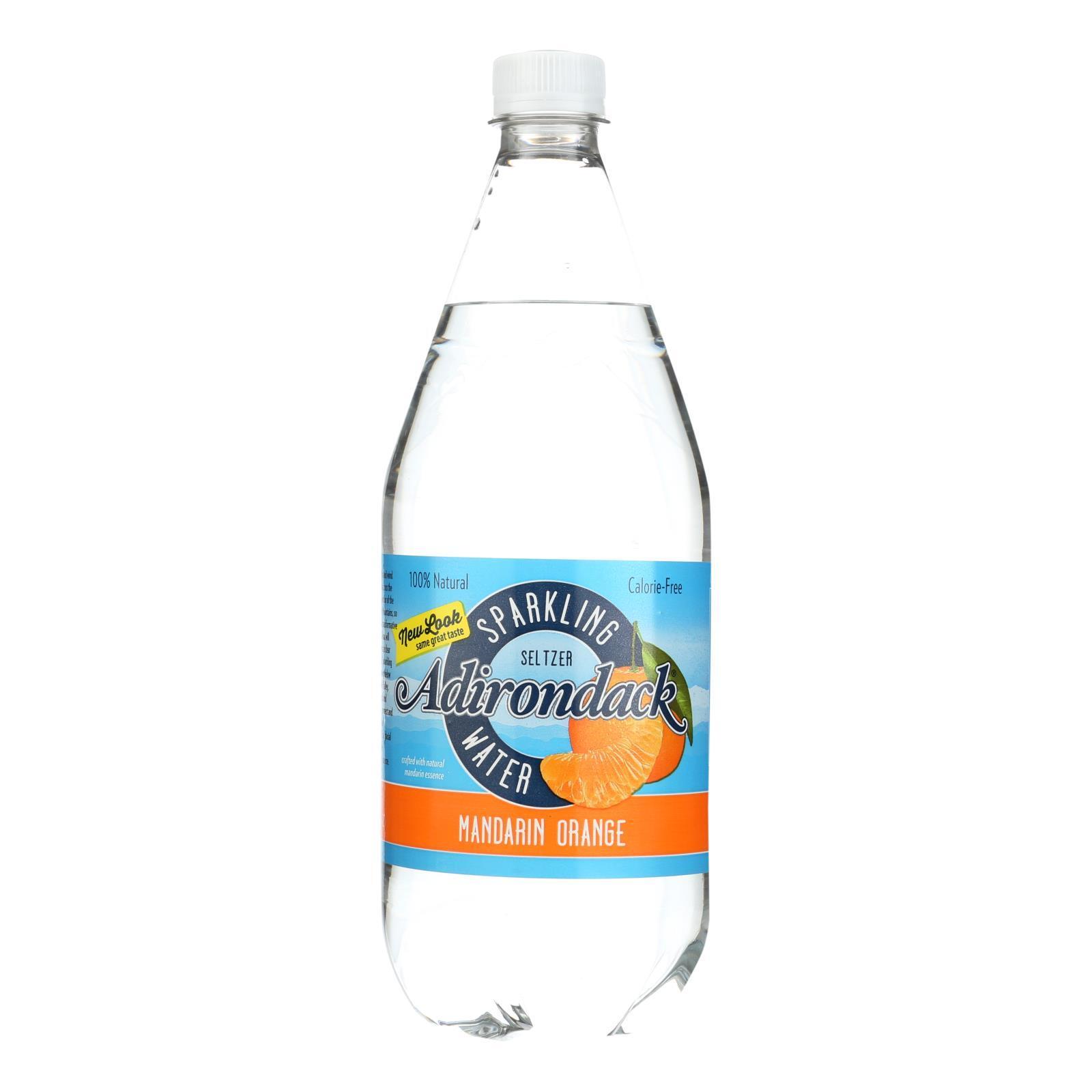 Naturals Adirondack Seltzer - Mandarin Orange - Case of 12 - 33.8 Fl oz.