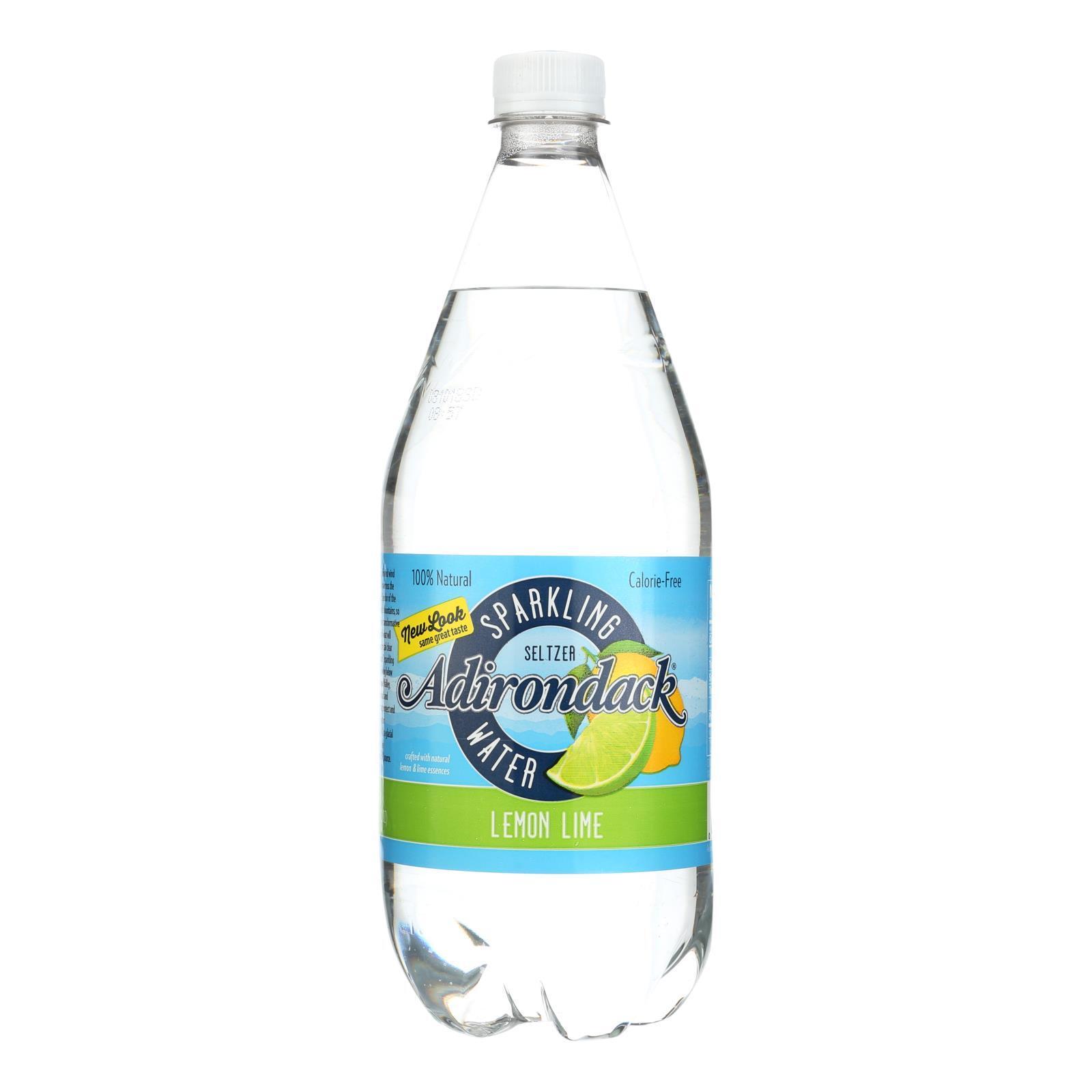 Naturals Adirondack Seltzer - Lemon Lime - Case of 12 - 33.8 Fl oz.