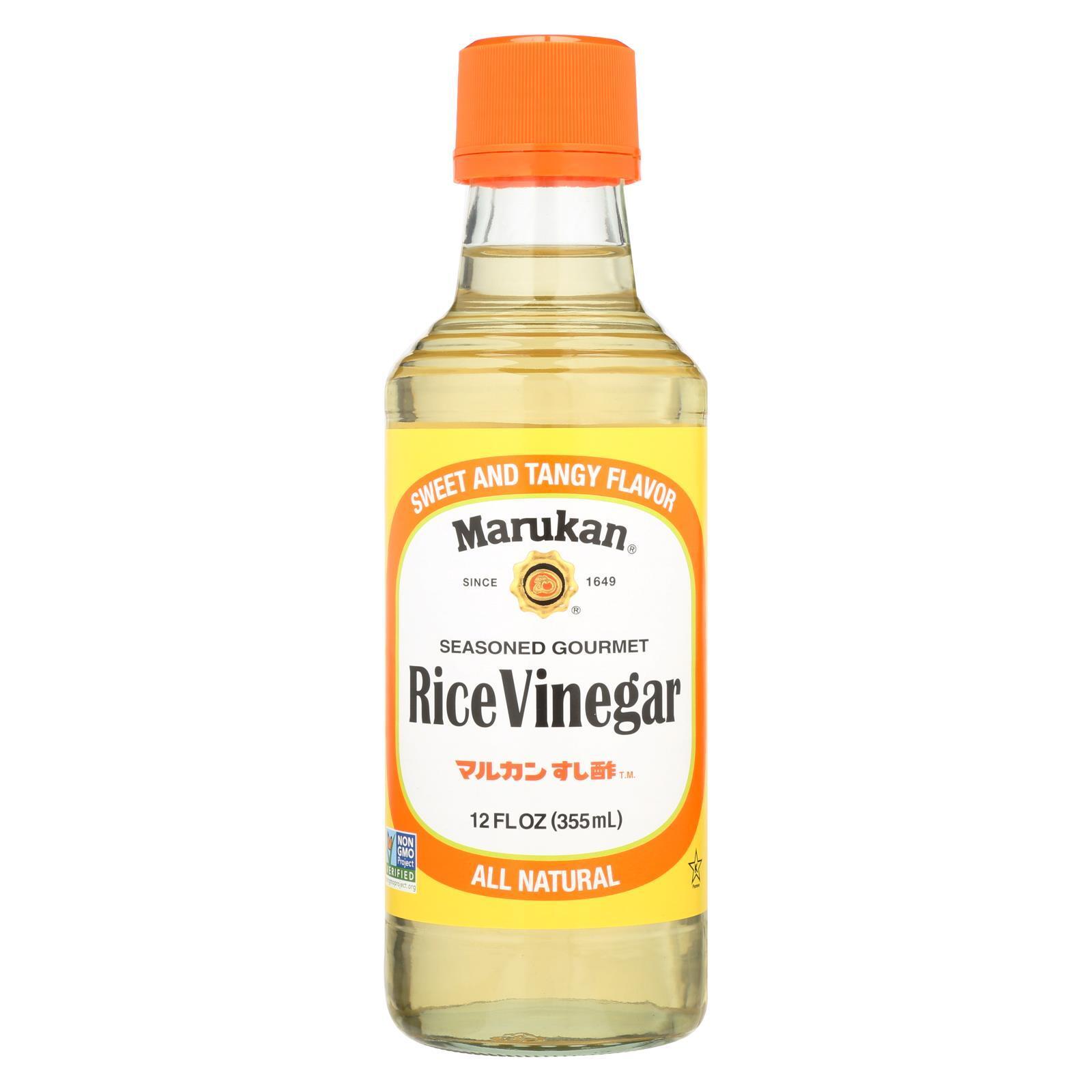 Marukan Seasoned Gourmet - Rice Vinegar - Case of 6 - 12 Fl oz.