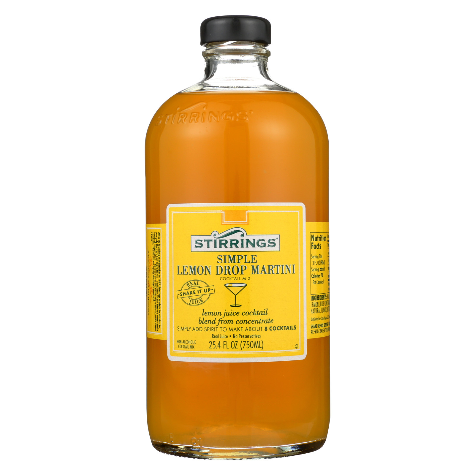 Stirrings Cocktail Mixer - Lemon Drop - Case of 6 - 750 ml