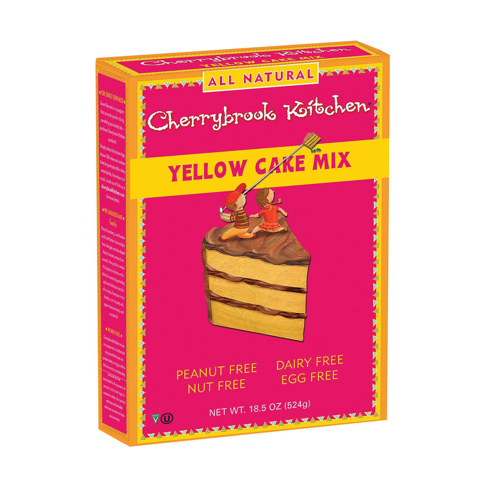 Cherrybrook Kitchen Yellow Cake Mix - Case of 6 - 16.3oz