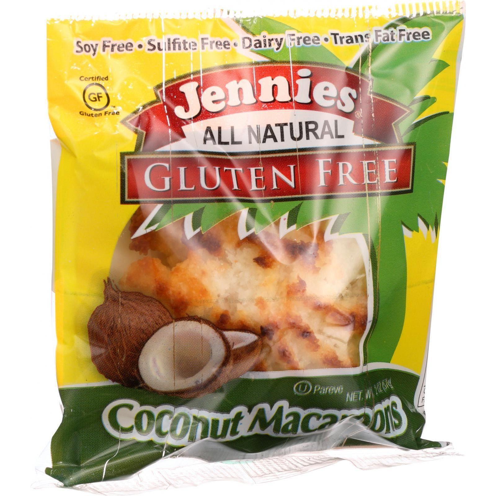Jennies Macaroon - Coconut - Gluten Free - 2 oz - Case of 24