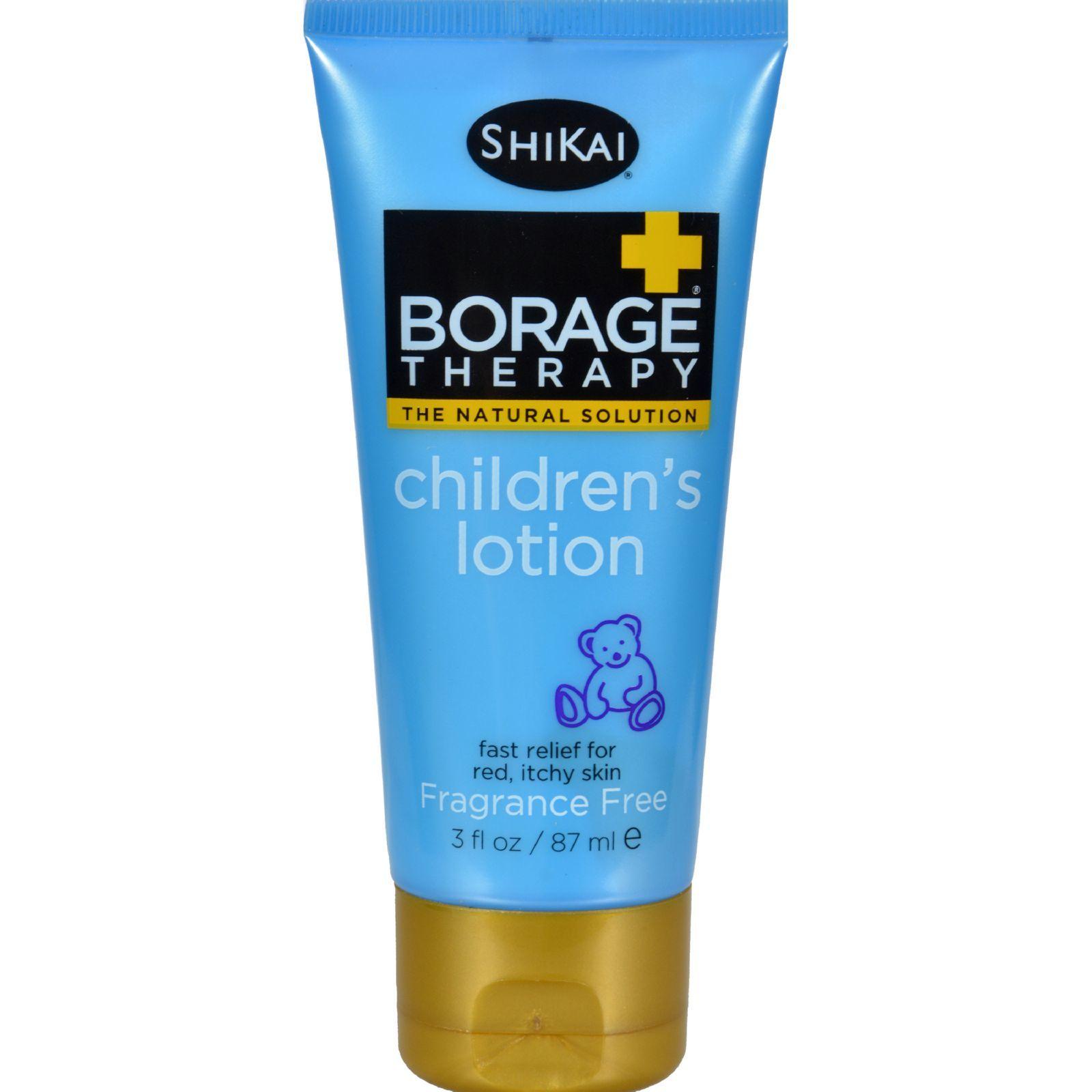 Shikai Borage Therapy Children's Lotion Fragrance Free - 3 fl oz