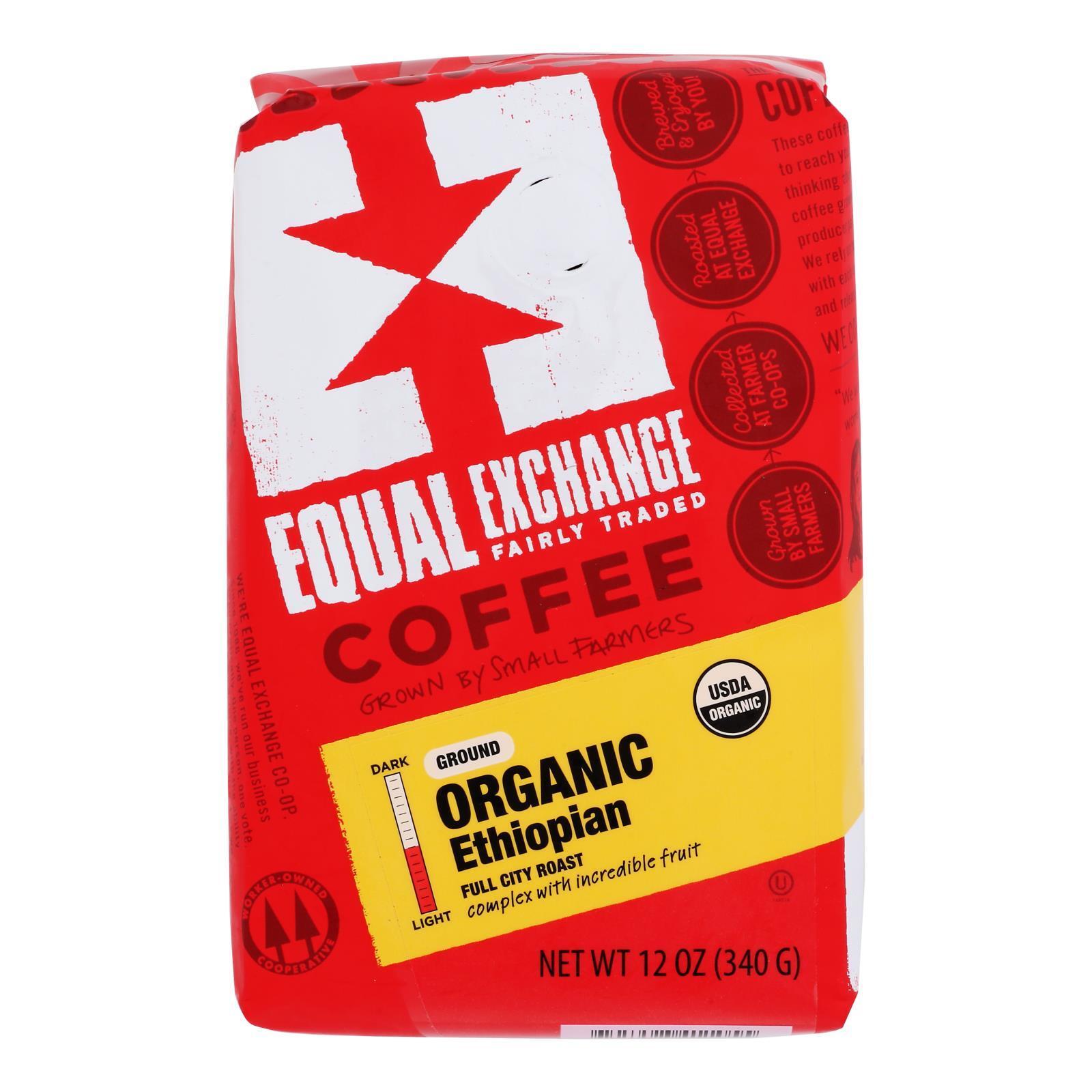 Equal Exchange Organic Drip Coffee - Ethiopian - Case of 6 - 12 oz.