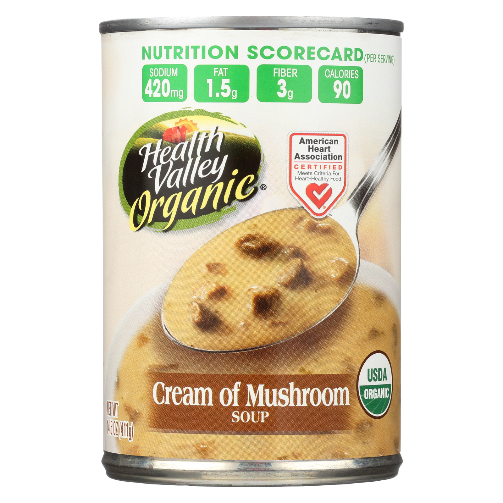 Health Valley Organic Soup - Mushroom, Cream - Case of 12 - 14.5 oz.