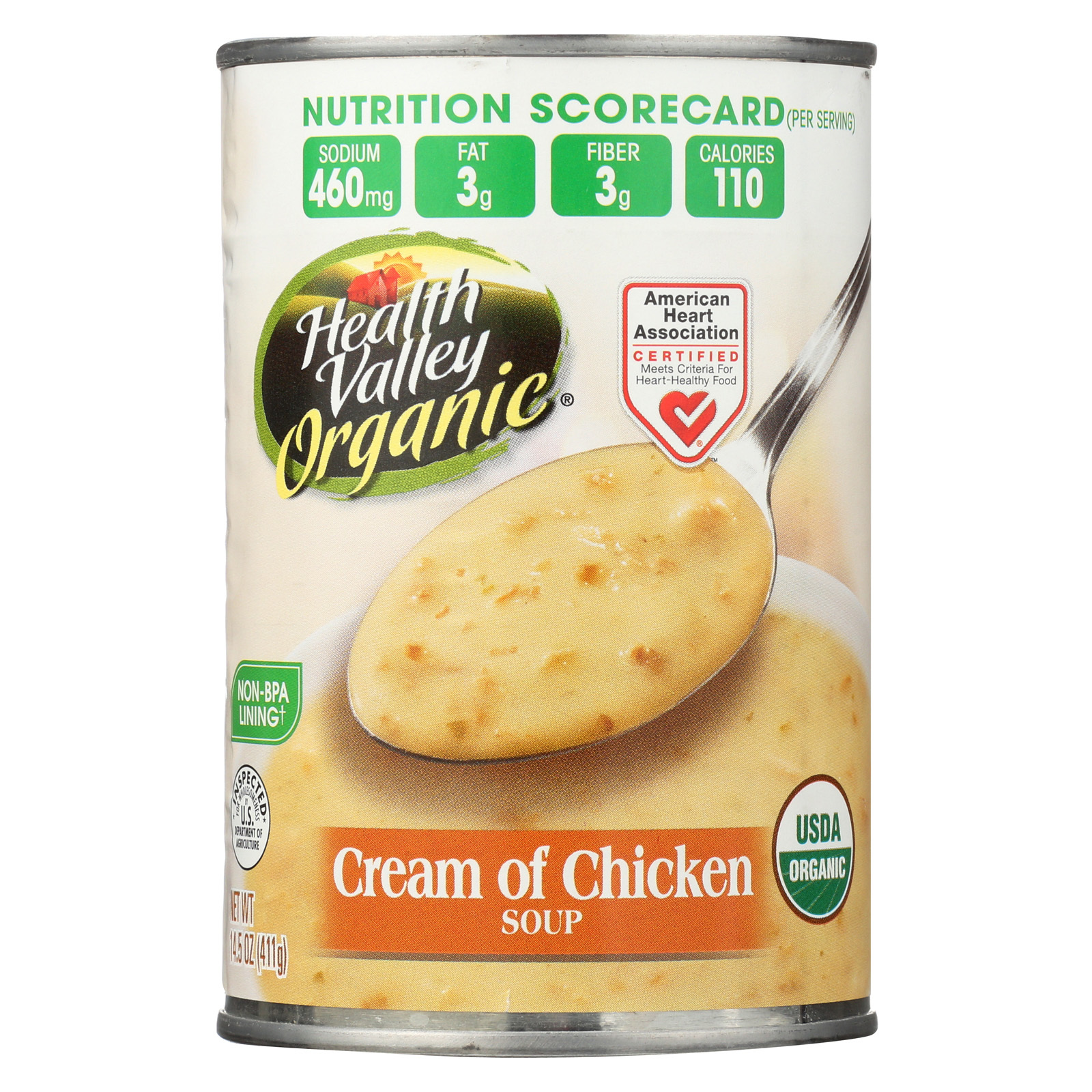 Health Valley Organic Soup - Chicken, Cream - Case of 12 - 14.5 oz.