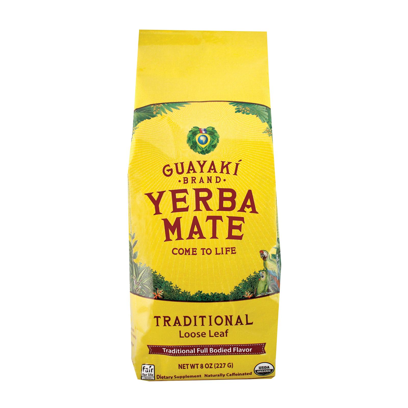 Guayaki Organic Yerba Mate - Traditional - Case of 6 - 8 oz.