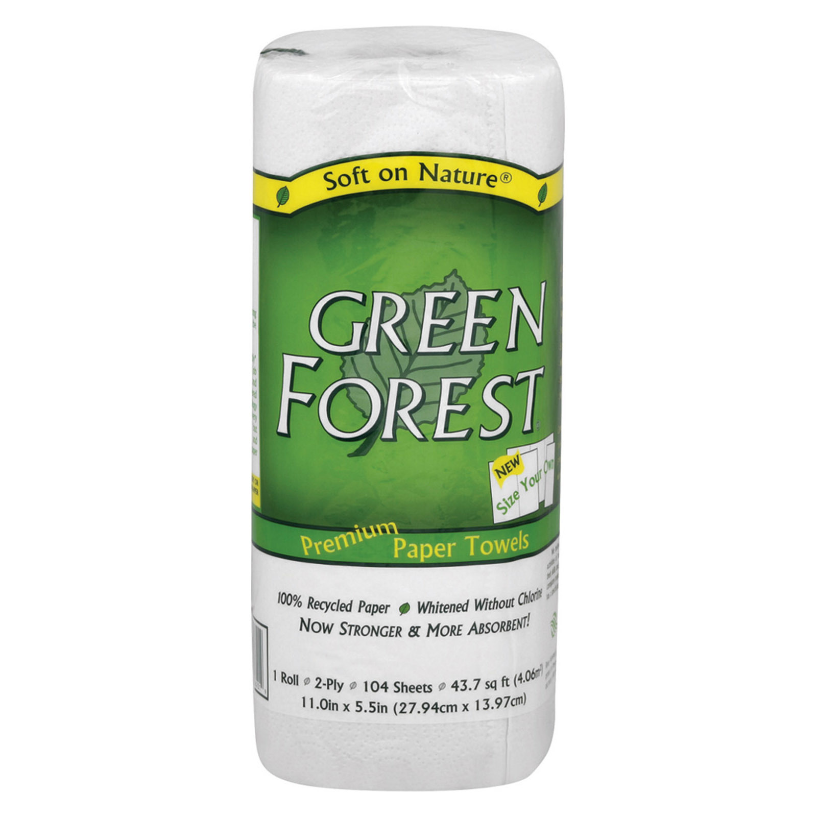 Green Forest Premium Paper Towel - Case of 30 - 1 Roll
