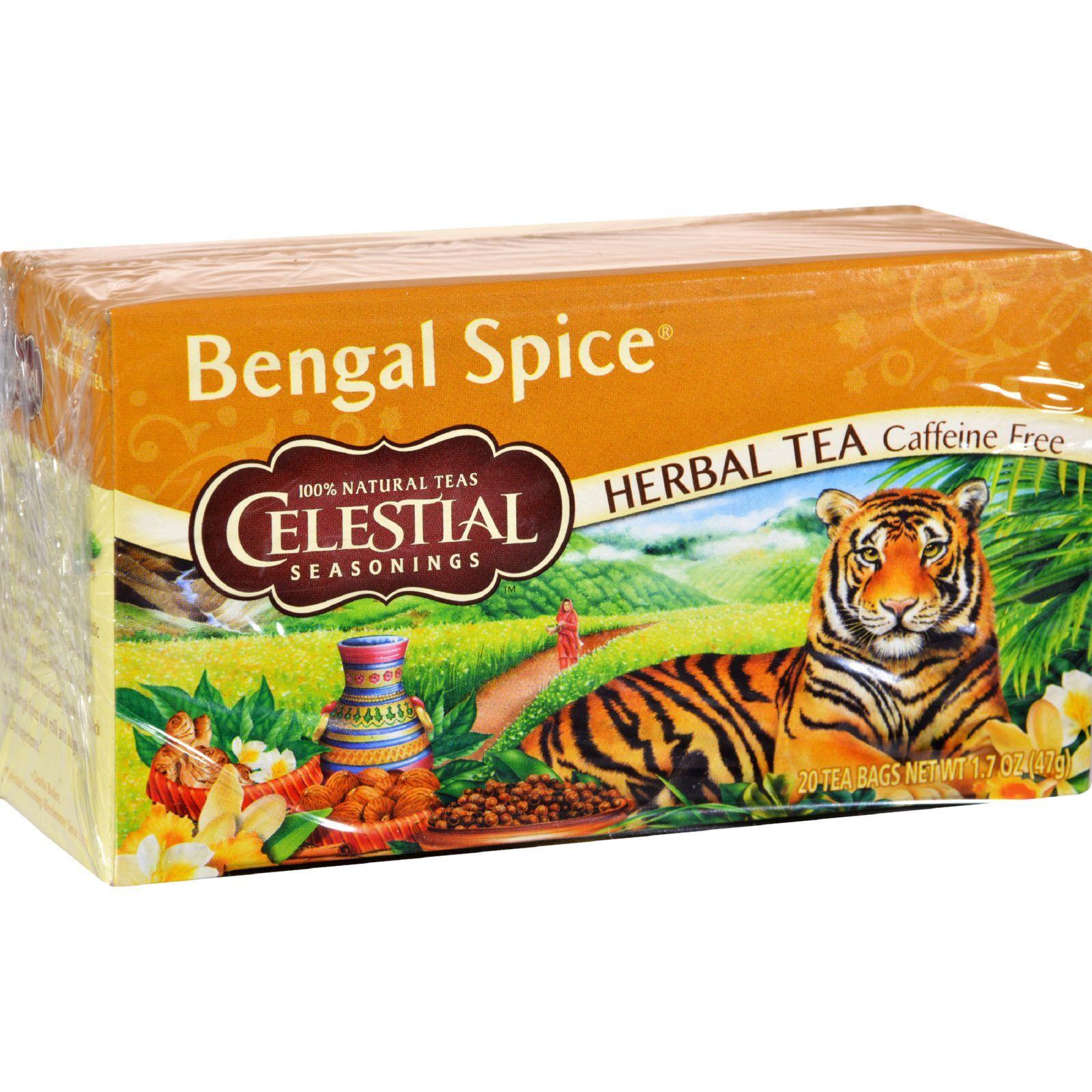 Celestial Seasonings Herbal Tea - Bengal Spice - Caffeine Free - 20 Bags