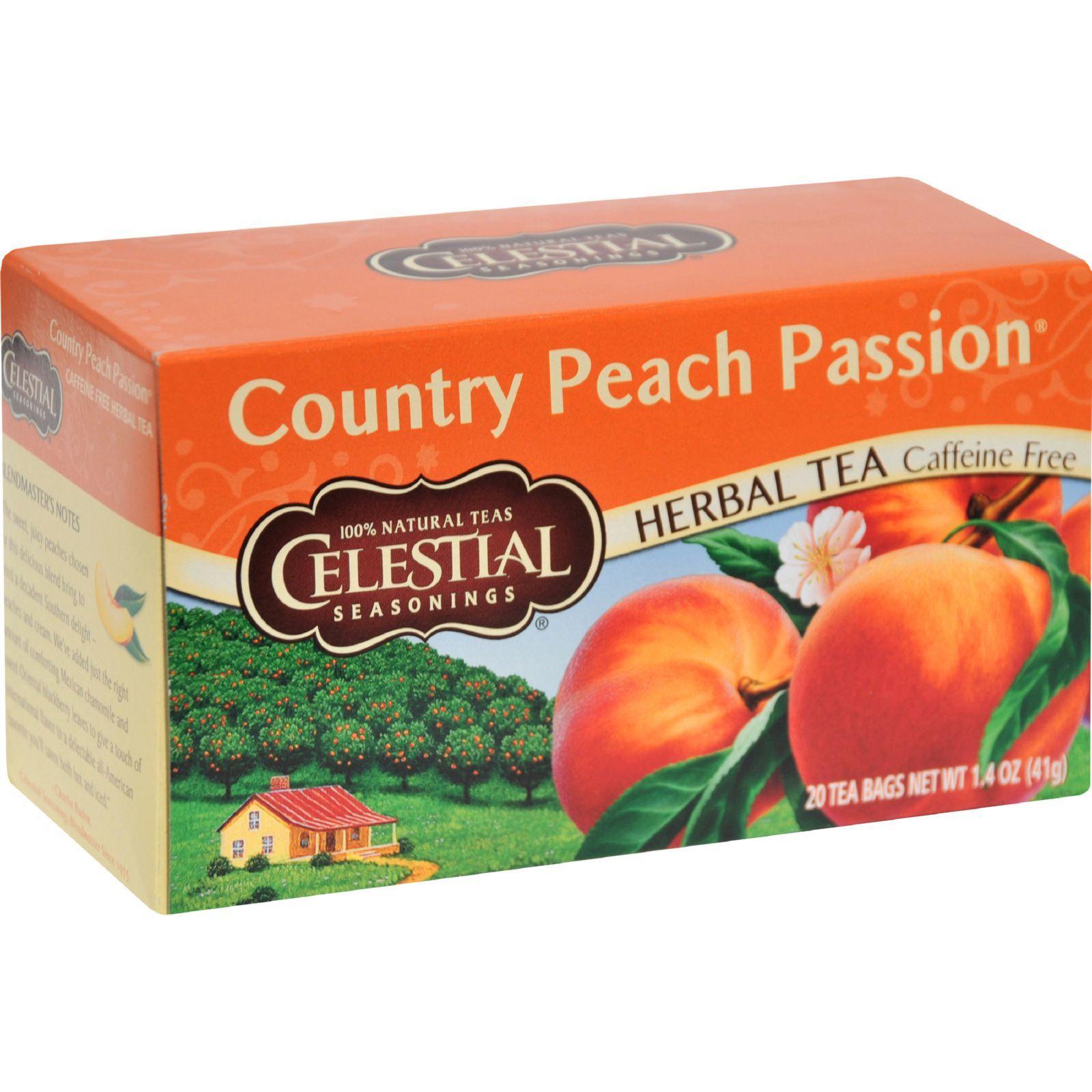 Celestial Seasonings Herbal Tea - Country P Passion - Caffeine Free - 20 Bags