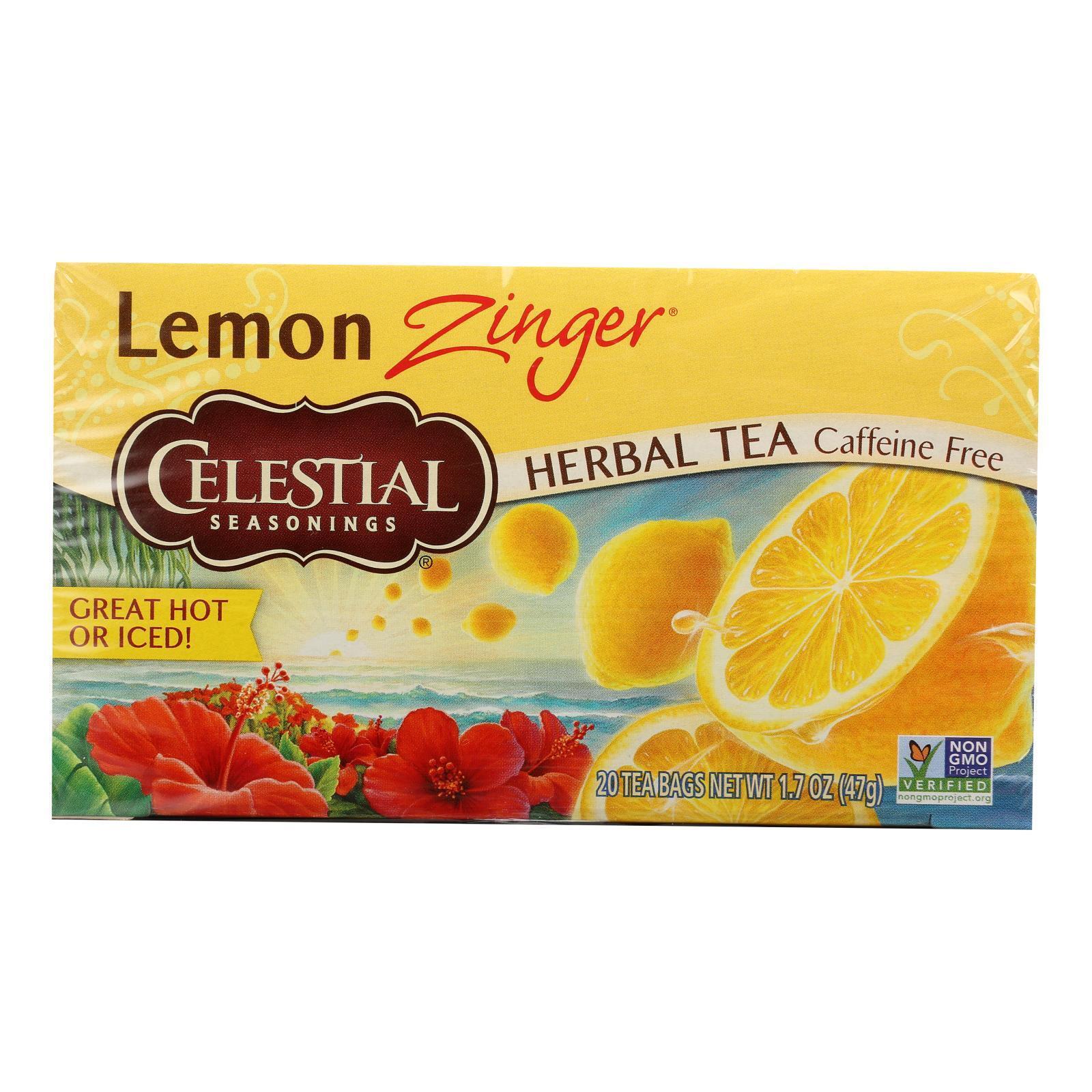 Celestial Seasonings Herbal Tea - Lemon Zinger - 20 Bags
