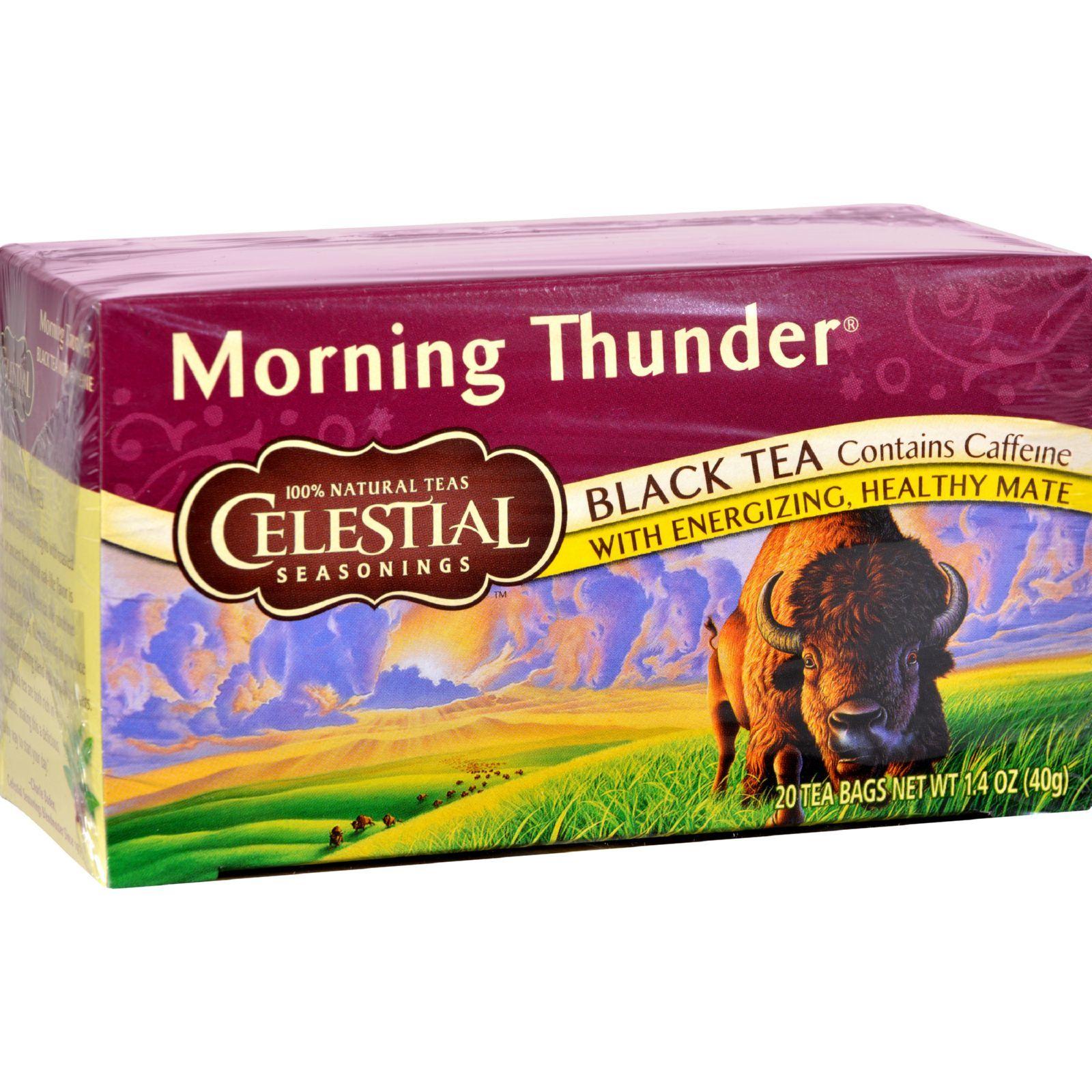 Celestial Seasonings Black Tea - Morning Thunder - 20 Bags