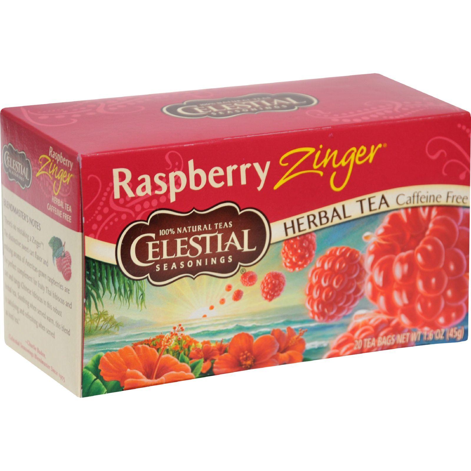 Celestial Seasonings Herbal Tea - Raspberry Zinger - 20 Bags