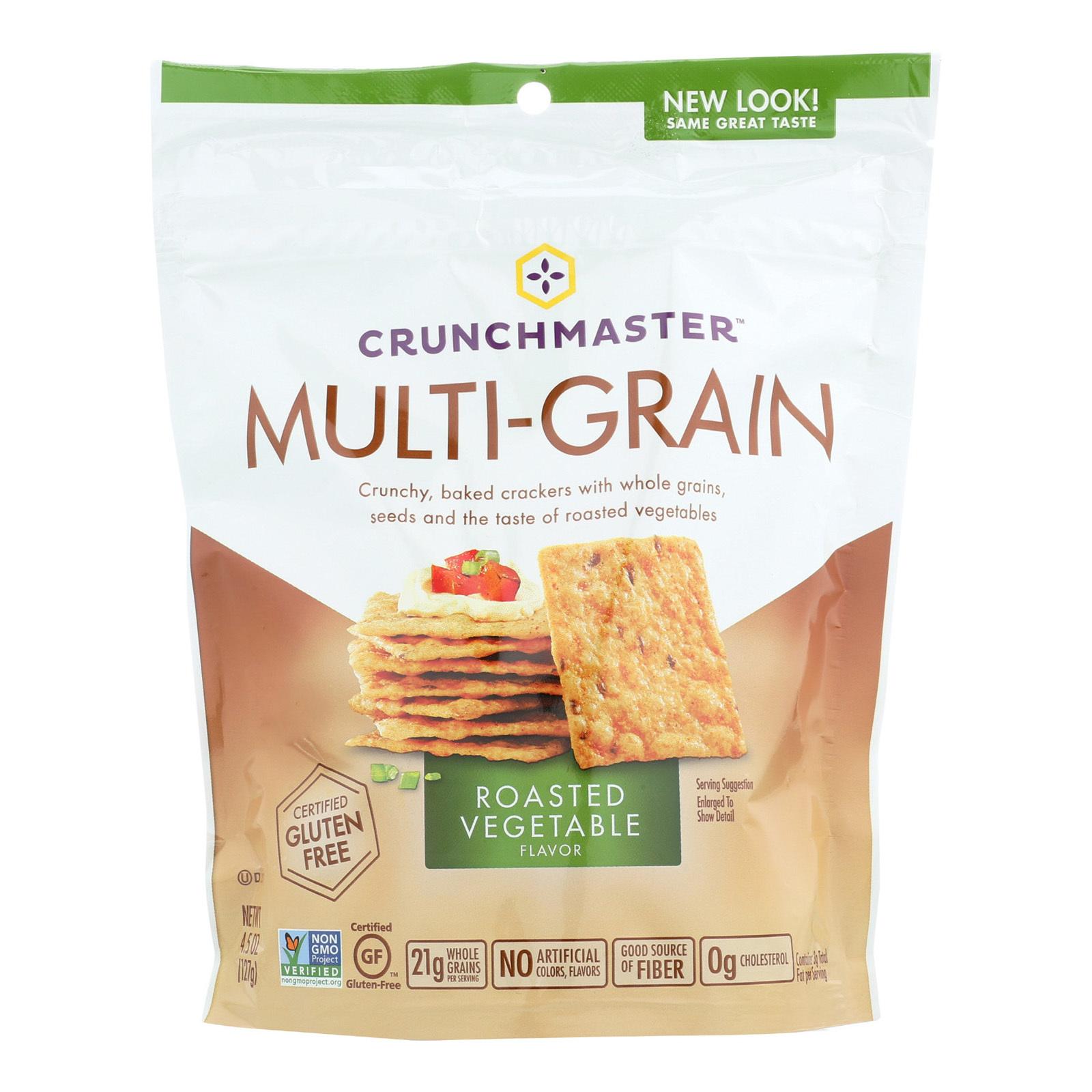 Crunchmaster Multi-Grain Crackers - Roasted Vegetable - Case of 12 - 4.5 oz.