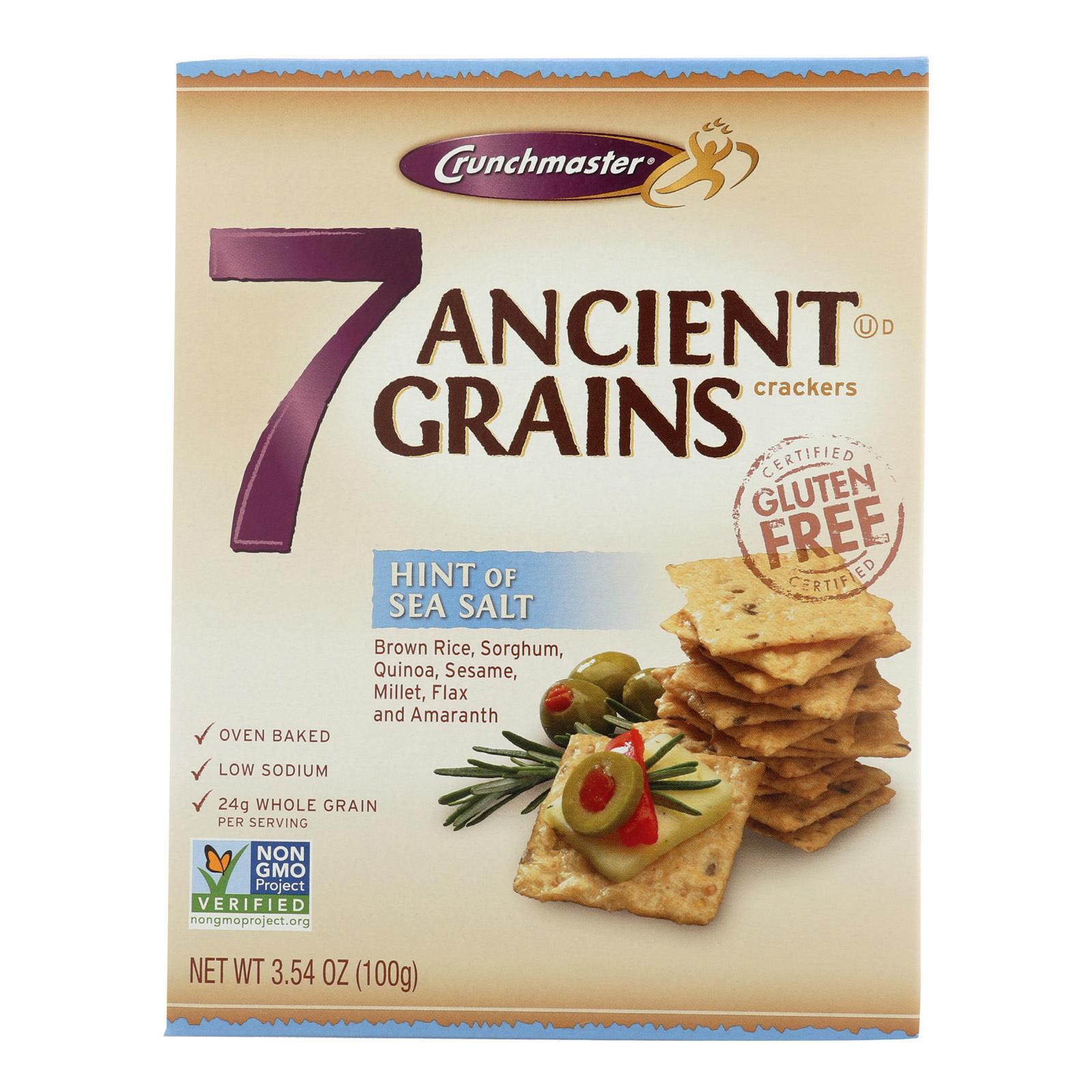 Crunchmaster 7 Ancient Grains Crackers - Sea Salt - Case of 12 - 3.5 oz.