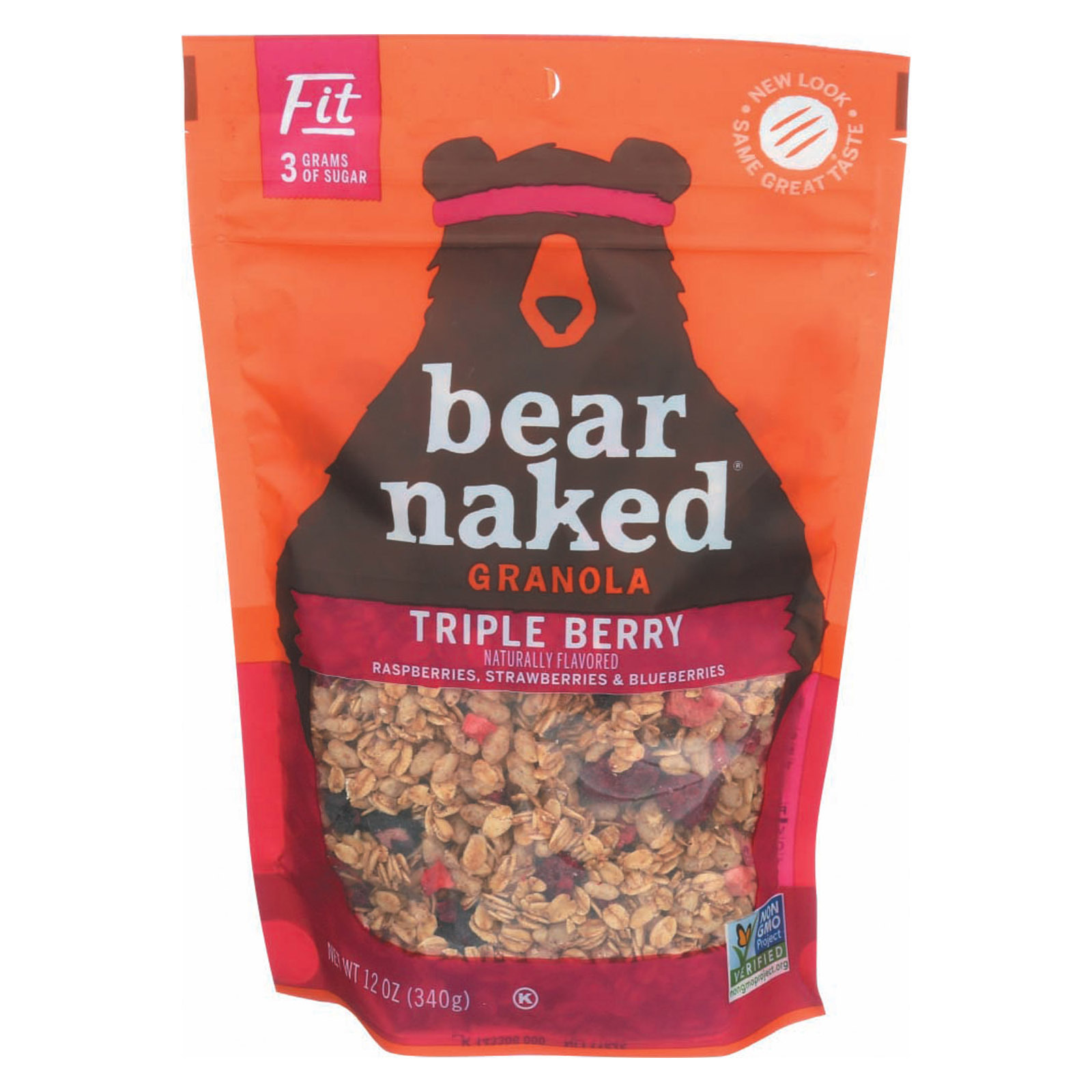 Bear Naked Granola - Triple Berry Fit - Case of 6 - 12 oz.