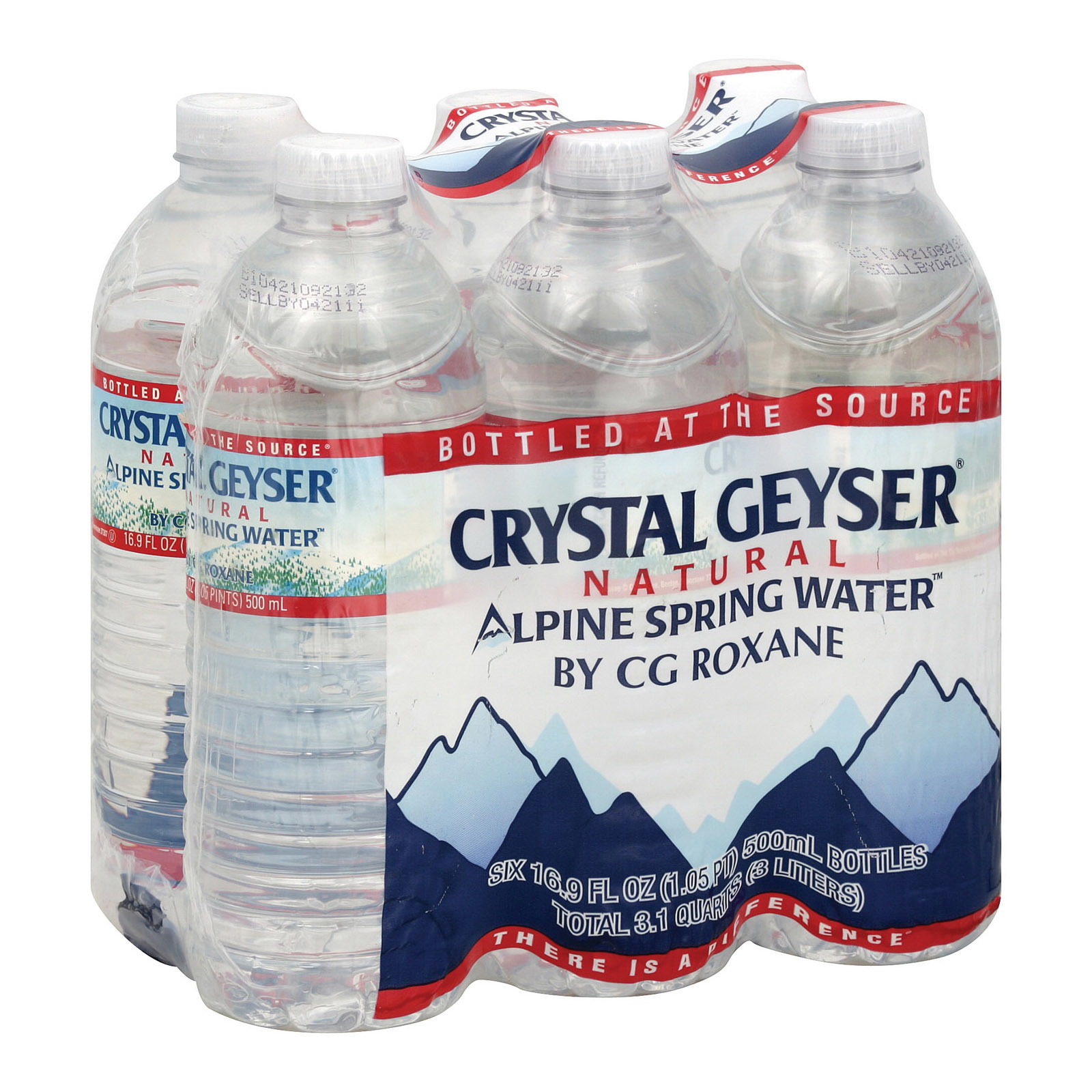 Crystal Geyser Alpine Spring Water - Case of 4 - 16.9 Fl oz.
