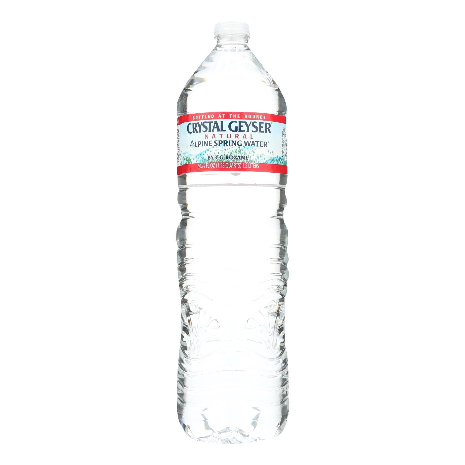 Crystal Geyser Alpine Spring Water - Case of 12 - 50.7 Fl oz.