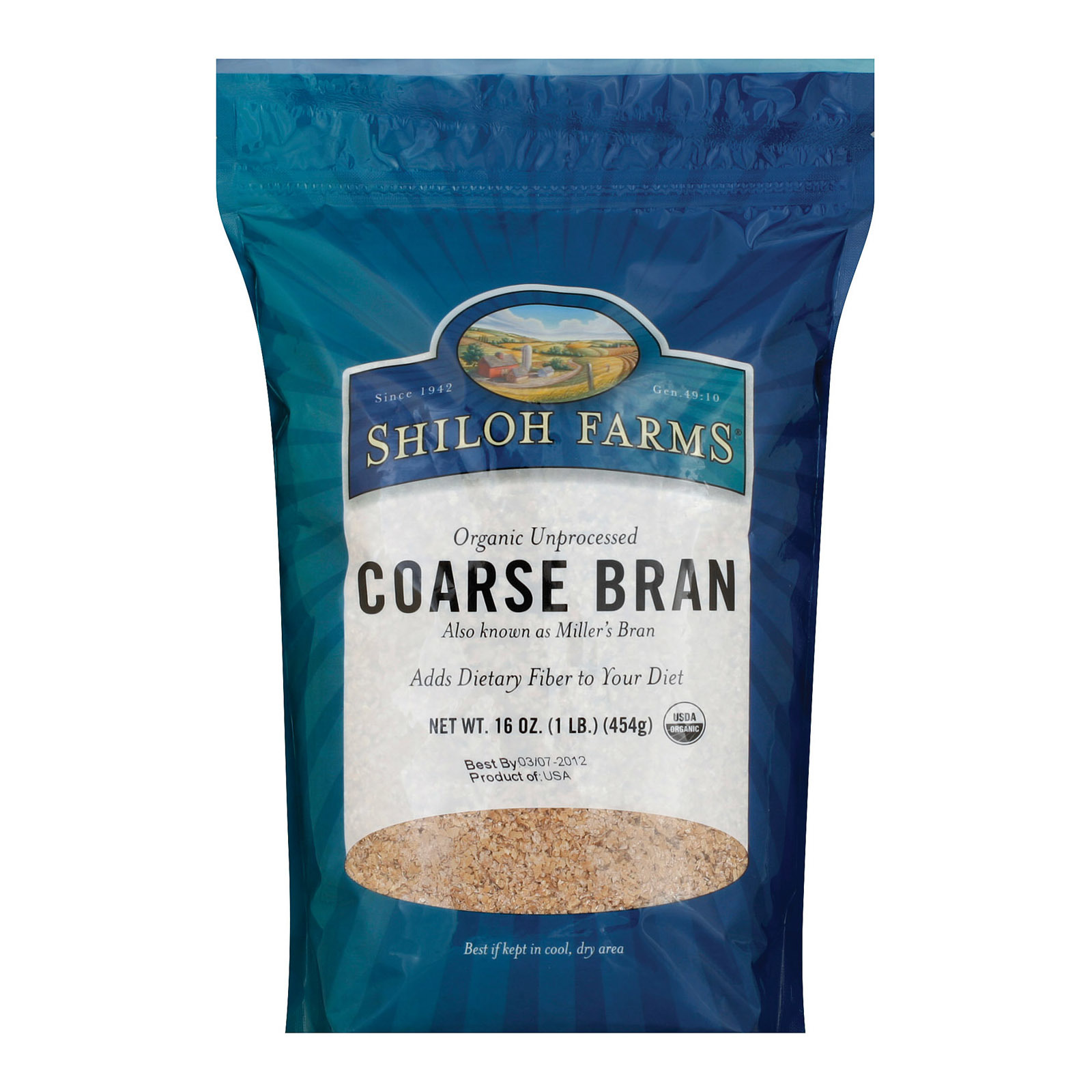 Shiloh Farms Organic Coarse Wheat Bran - Case of 12 - 1 lb.