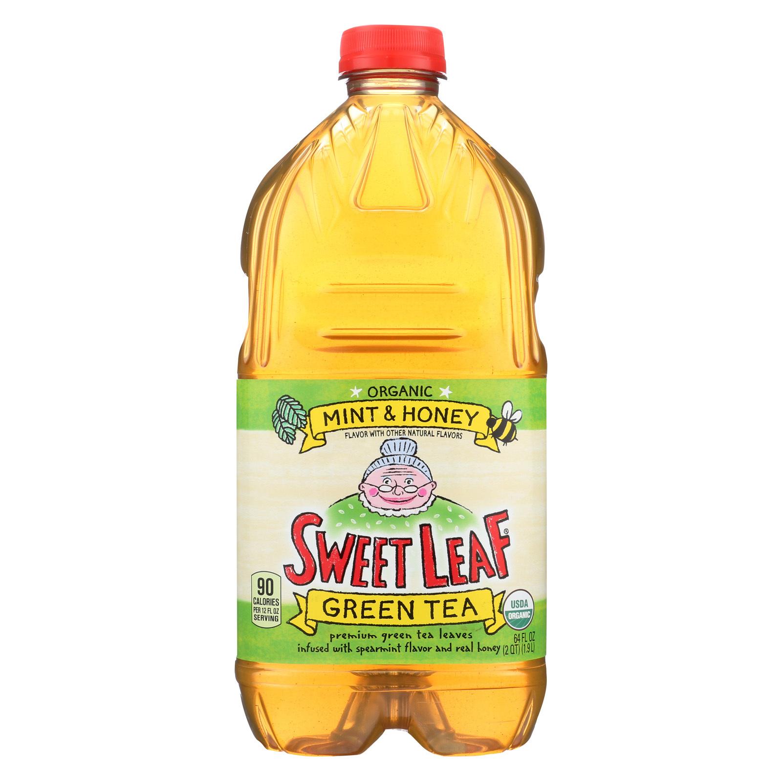 Sweet Leaf Tea Iced Green Tea - Mint and Honey - Case of 8 - 64 Fl oz.
