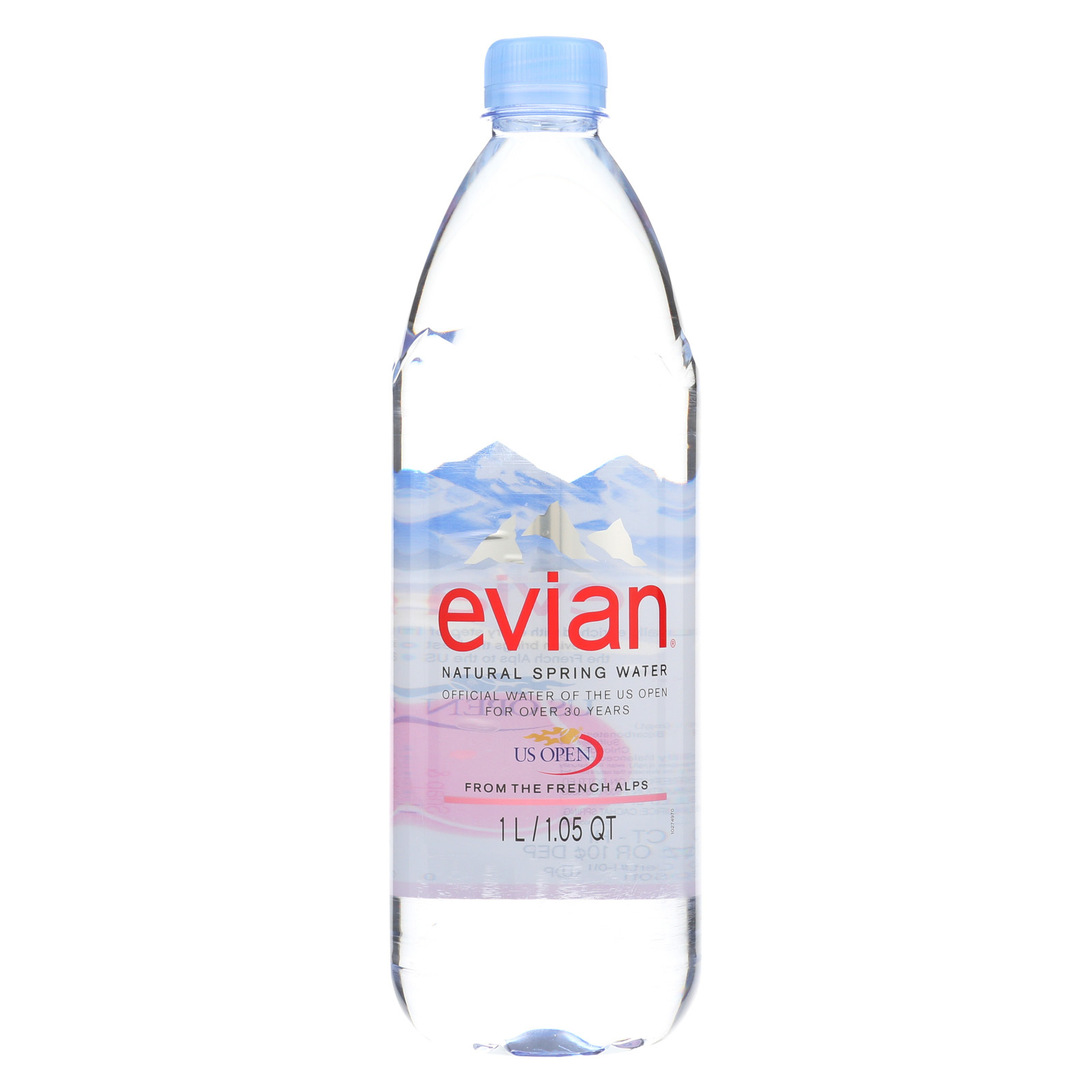 Evians Spring Water Bottled Water - Water - Case of 12 - 33.8 FL oz.