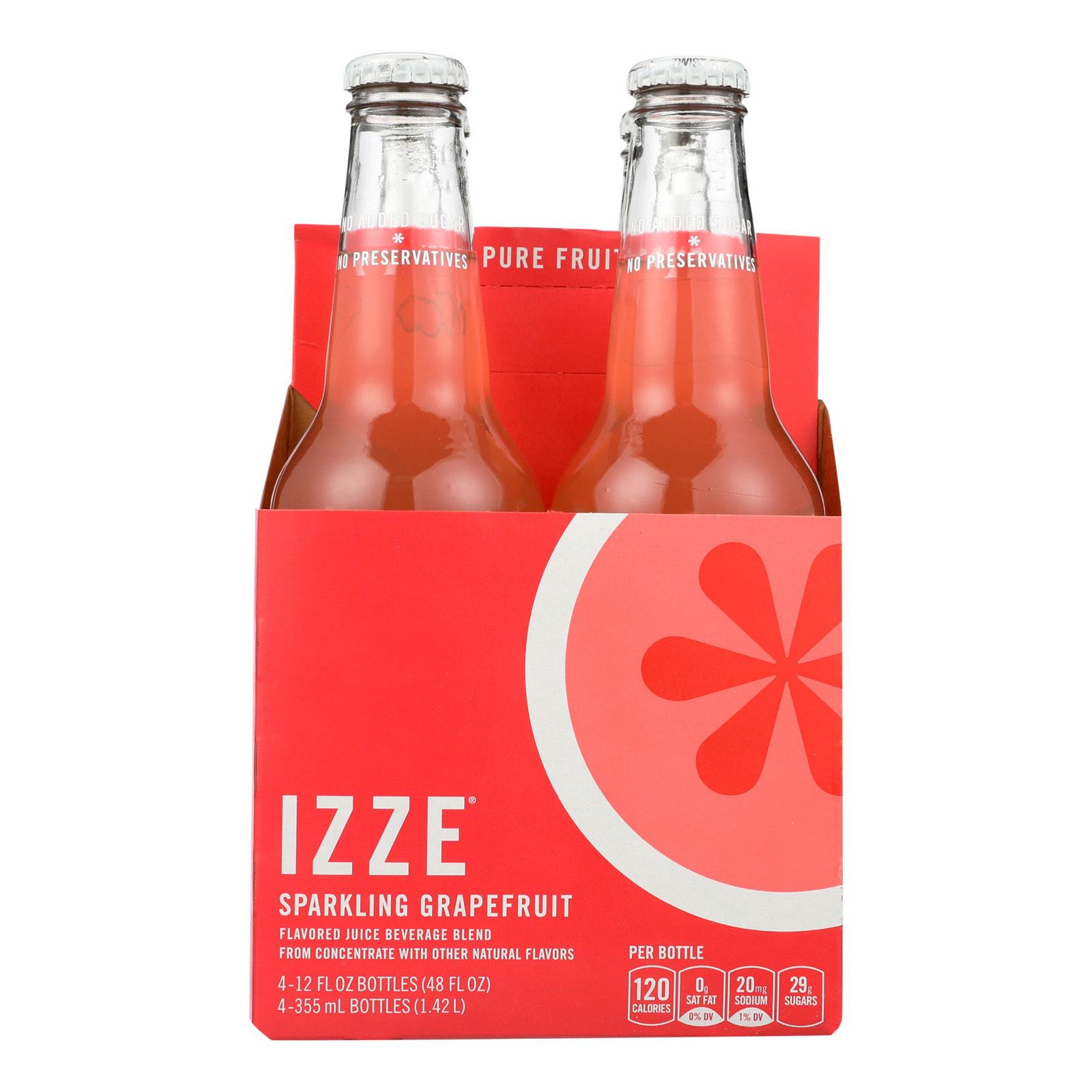 Izze Sparkling Juice - Grapefruit - Case of 6 - 12 Fl oz.