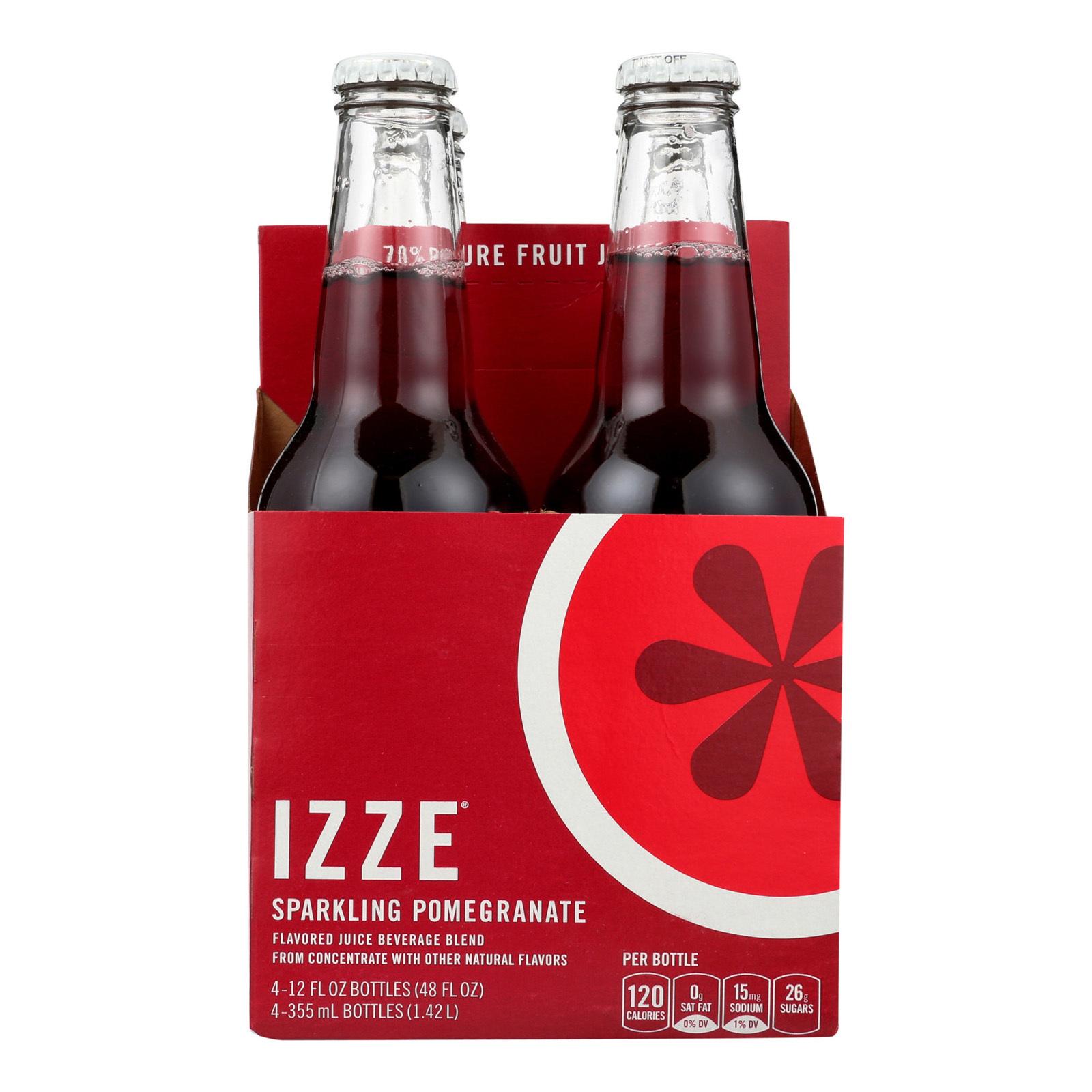 Izze Sparkling Juice - Pomegranate - Case of 6 - 12 Fl oz.