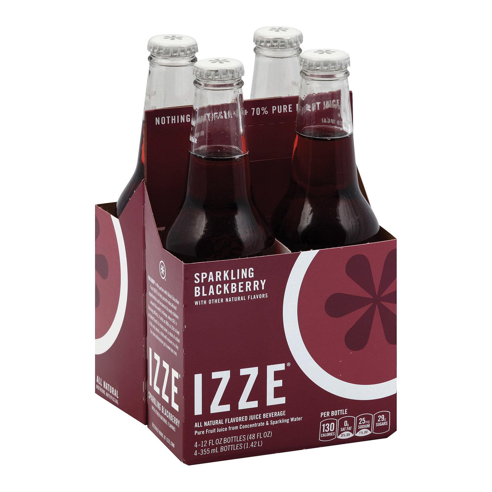 Izze Sparkling Juice - Blackberry - Case of 6 - 12 Fl oz.