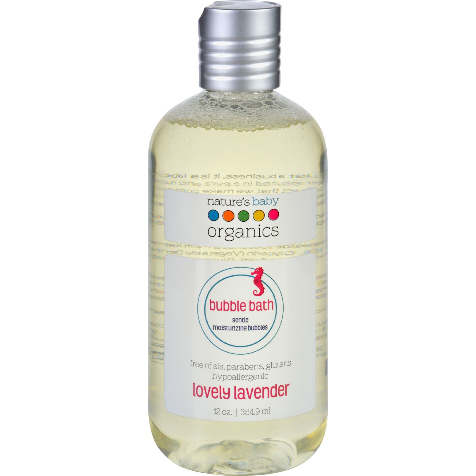 Nature's Baby Organics Bubble Bath - Moisturizing - Lovely Lavender - 12 oz