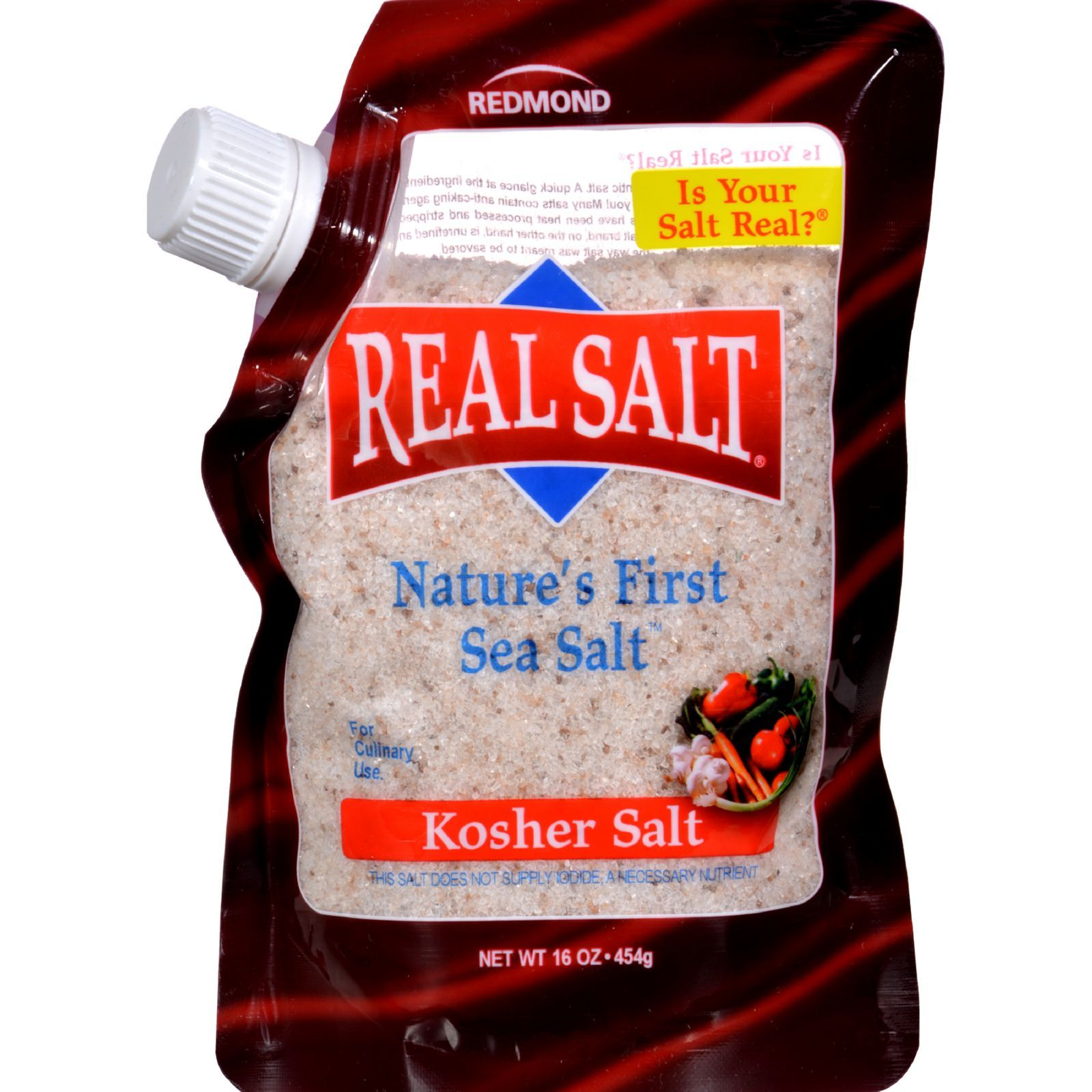 Real Salt Kosher Sea Salt Pouch - 16 oz