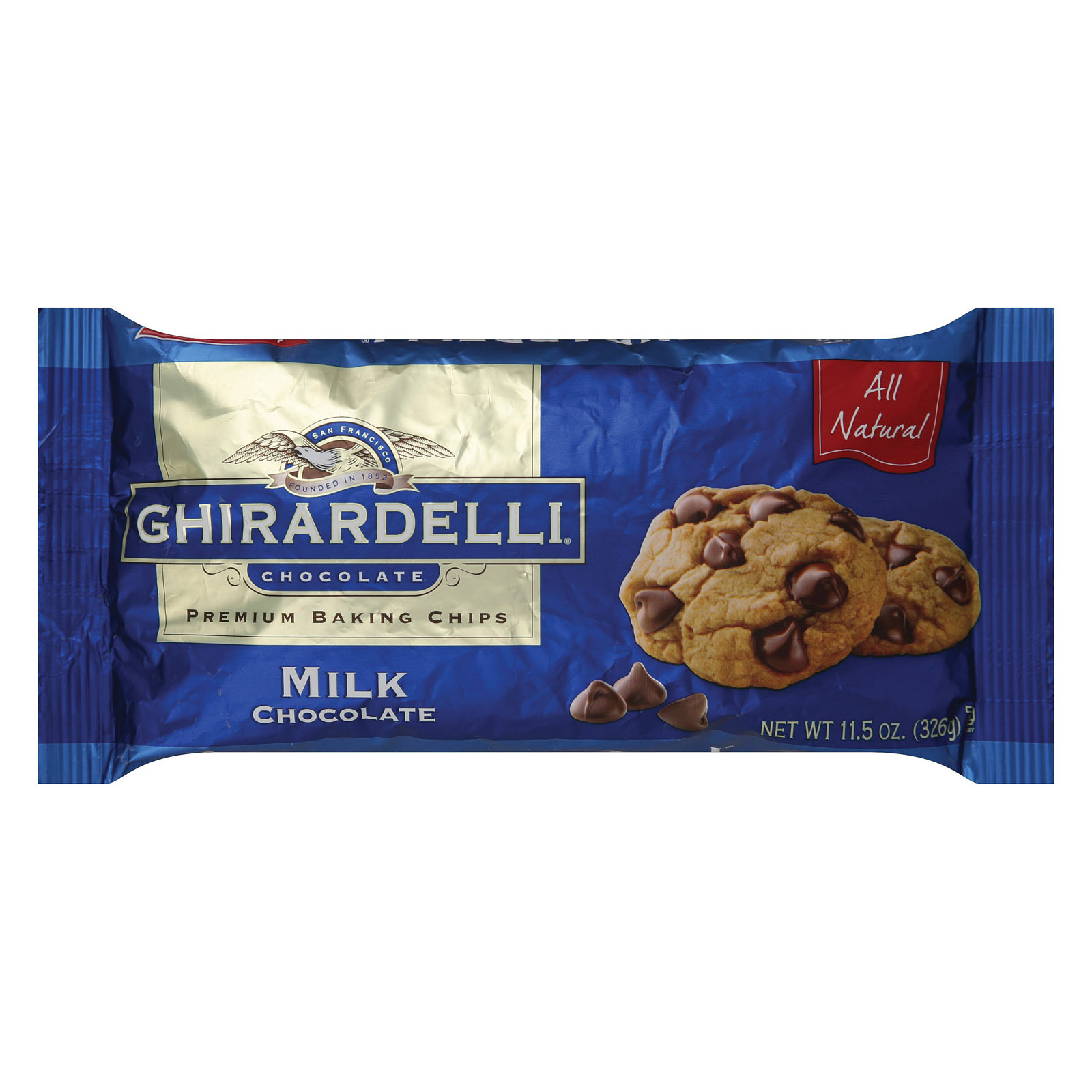 Ghirardelli Baking Chips - Milk Chocolate - Case of 12 - 11.5 oz.