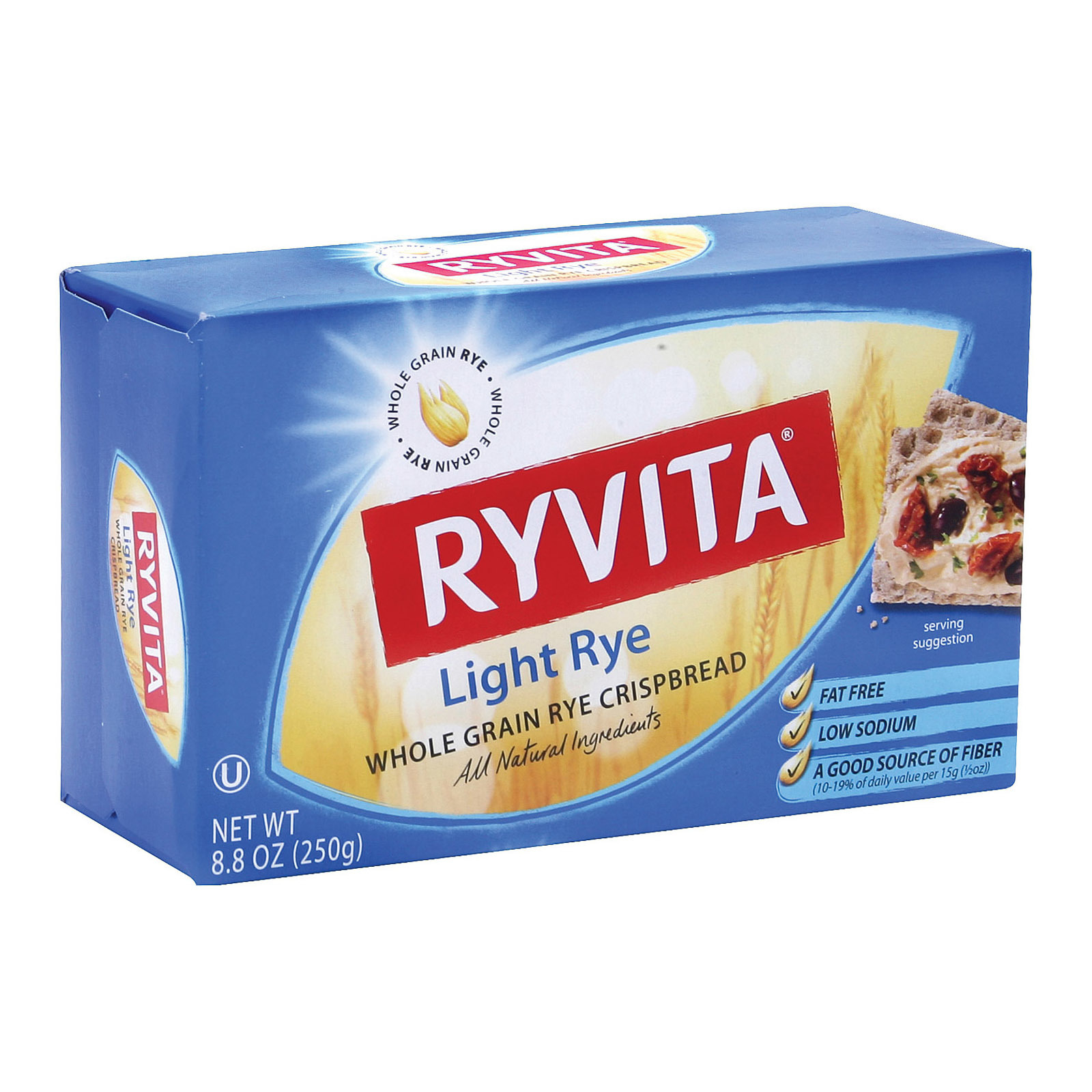 Ryvita Crispbread - Crunch Light Rye - Case of 10 - 8.8 oz.